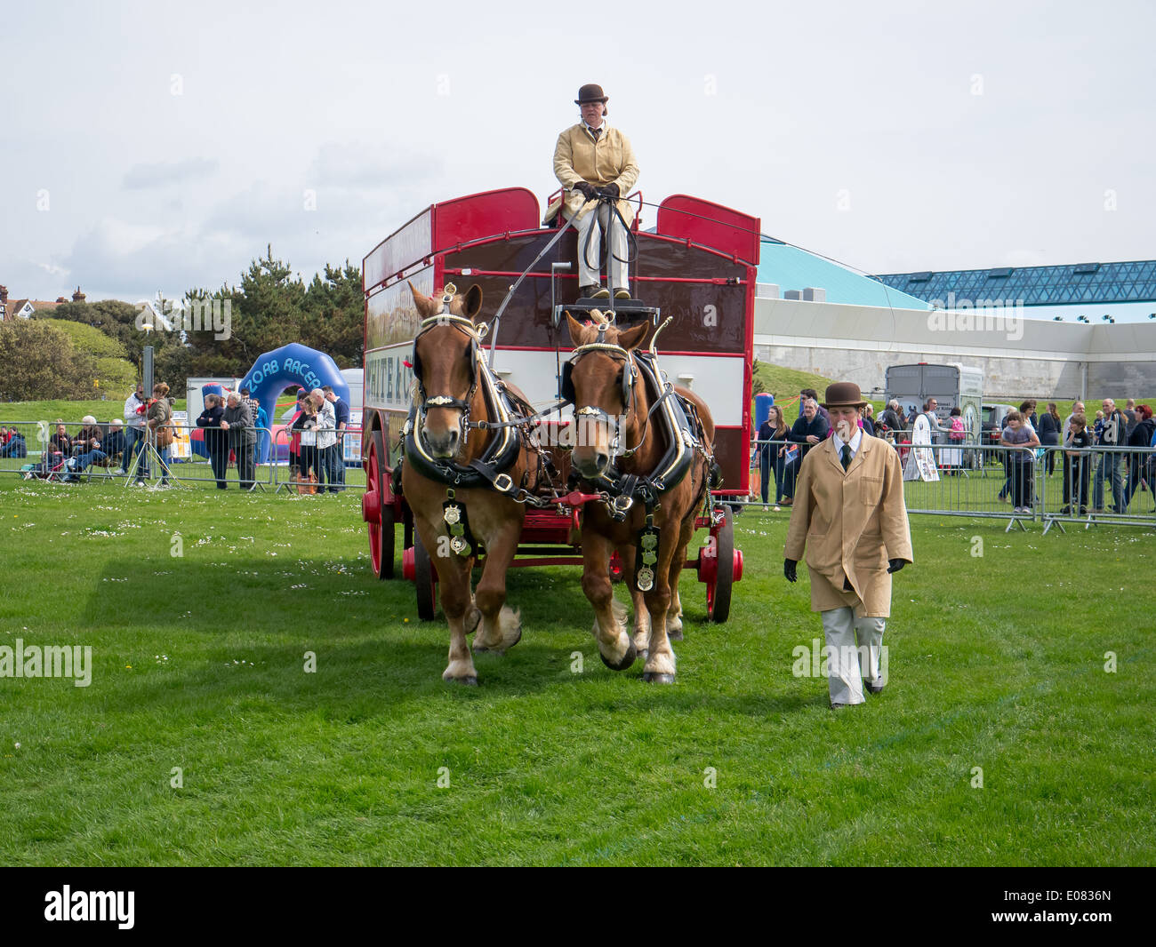 A Heavy Horse Drawn Furniture Removal Carriage Is Displayed In An