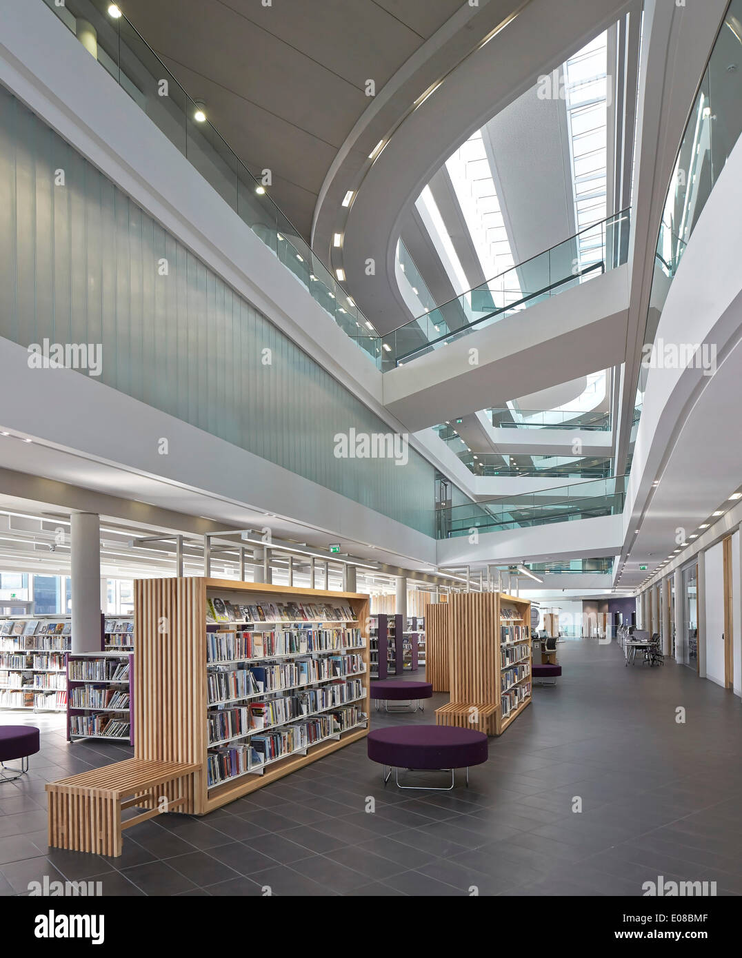 Foyer Architecture Library : Number one riverside rochdale united kingdom architect
