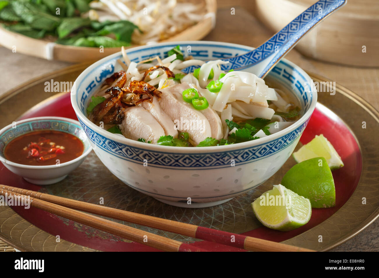 how to make pho noodle soup chicken
