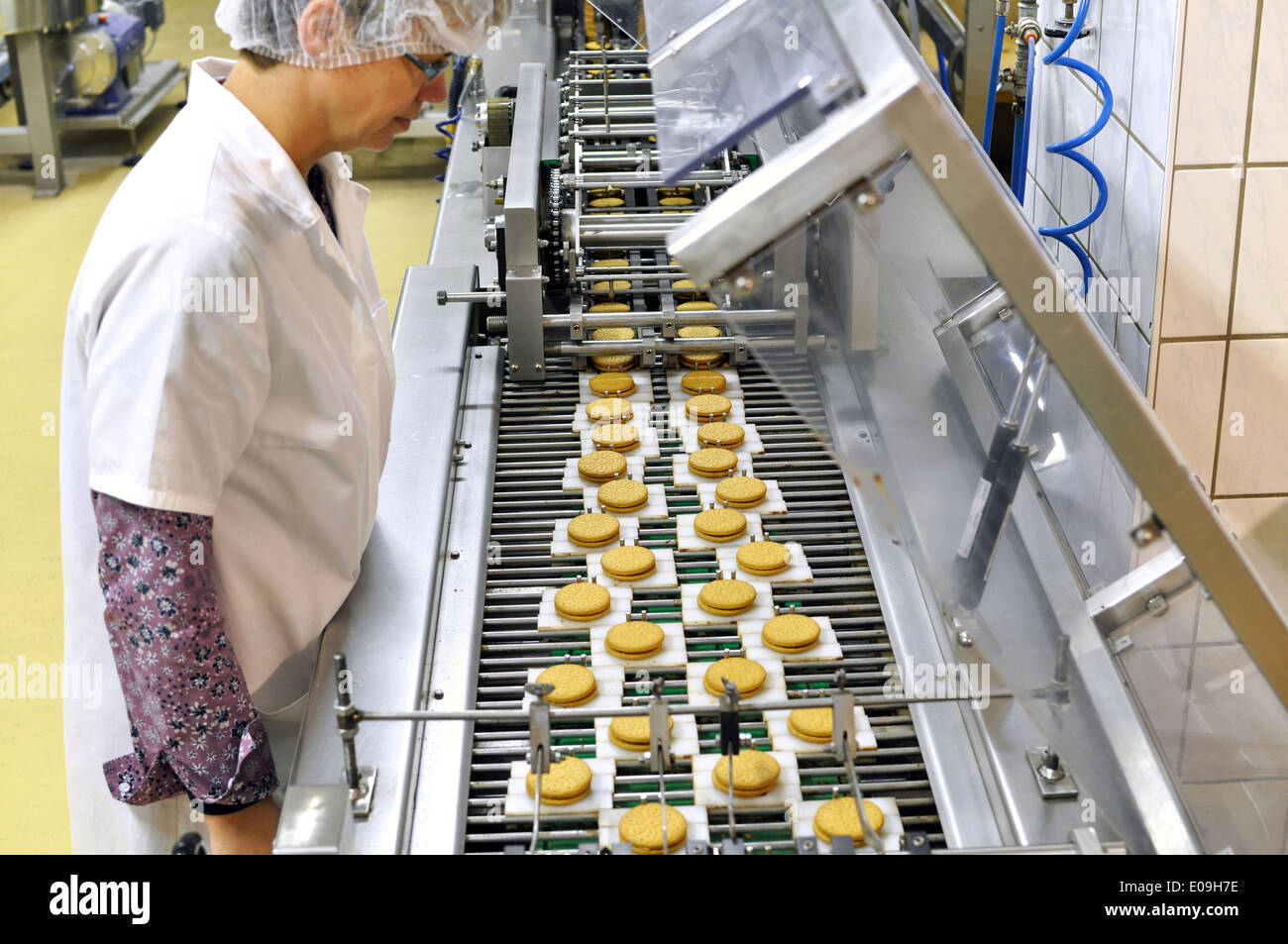germany food industry cookie production in industrial bakery stock photo royalty free image. Black Bedroom Furniture Sets. Home Design Ideas