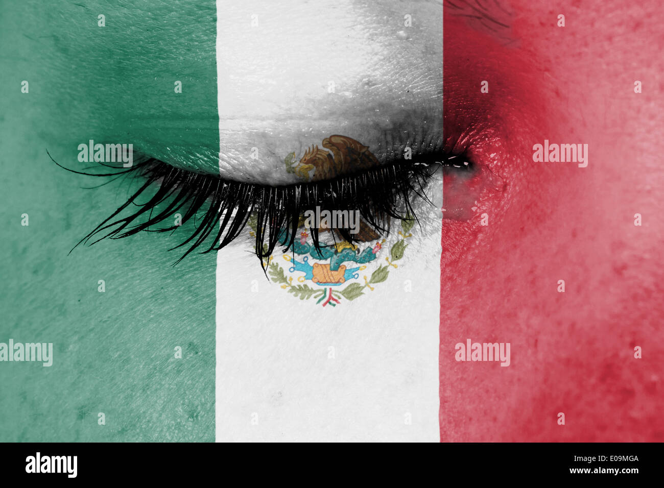 young lady woman mexican flag stock photos u0026 young lady woman