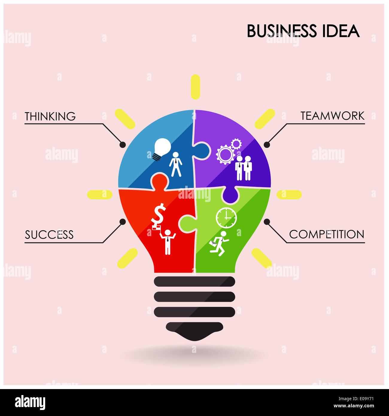Creative light bulb idea concept background design for for Design concept ideas