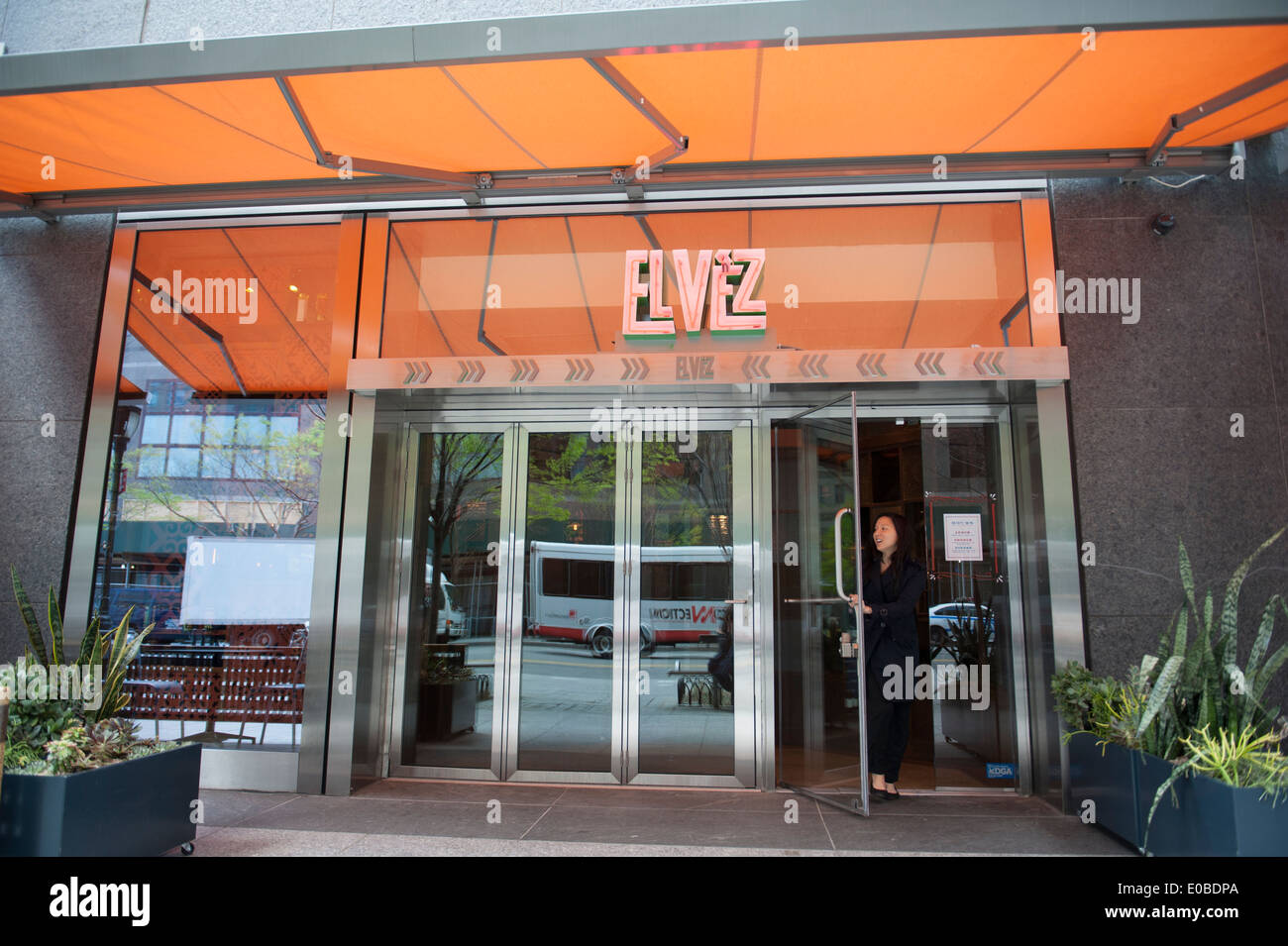 El vez a mexican american restaurant in battery park city stock photo royalty free image for Mexican restaurant garden city