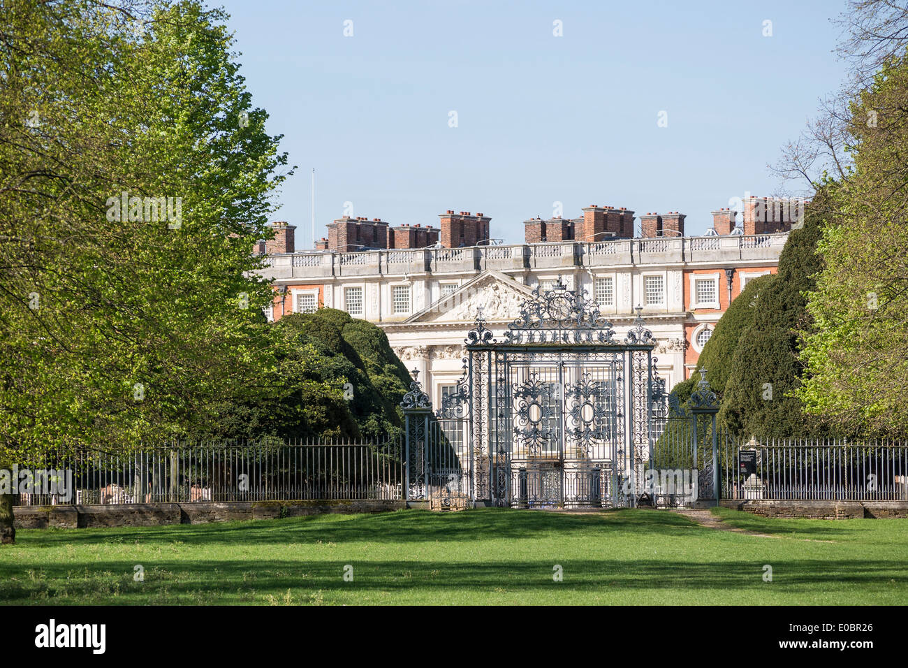 Hampton Court Palace From Home Park Side Surrey England London