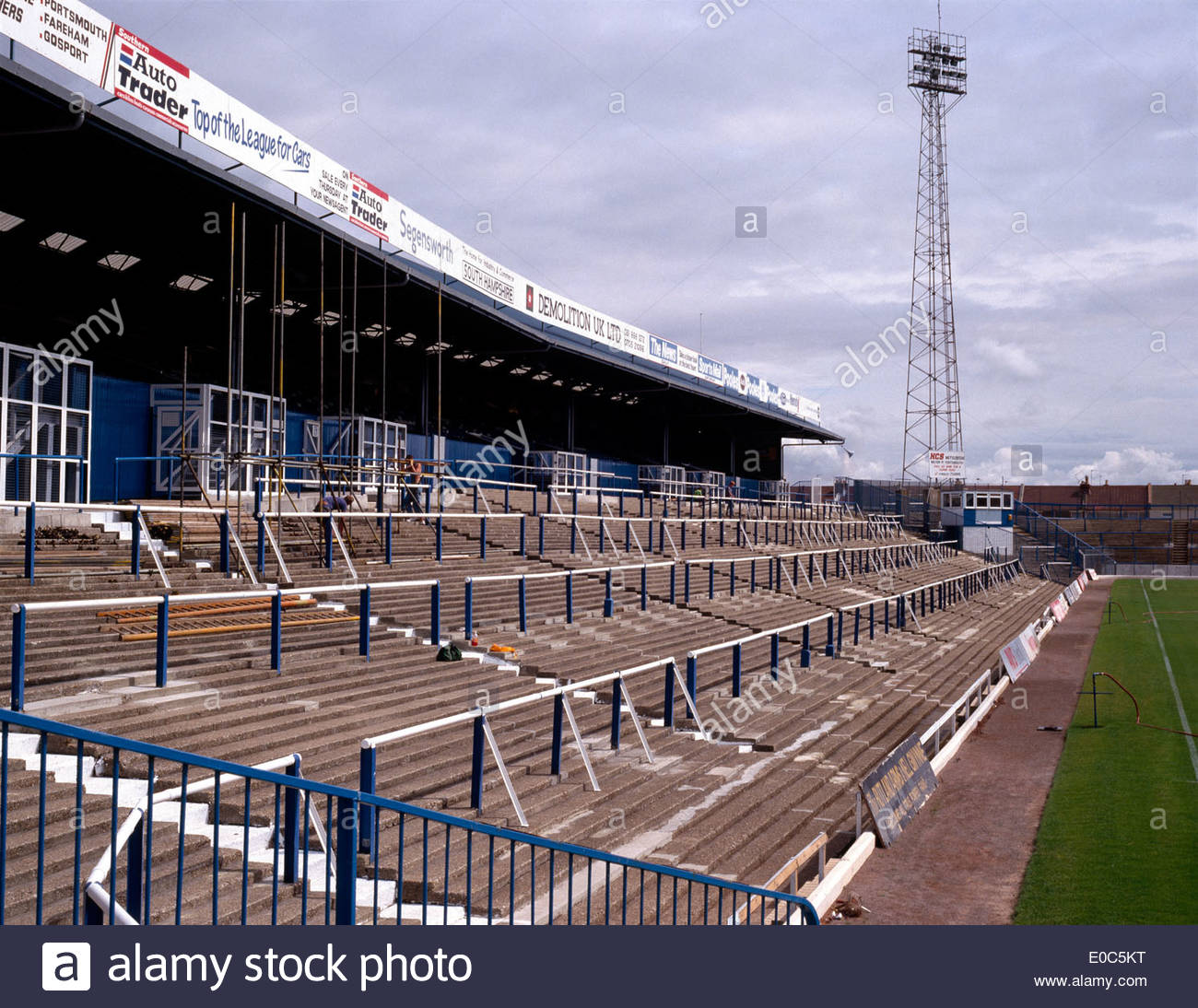 Terrace Rake Stanchions Scaffolding At Fratton Park The Home Of Portsmouth Football Club