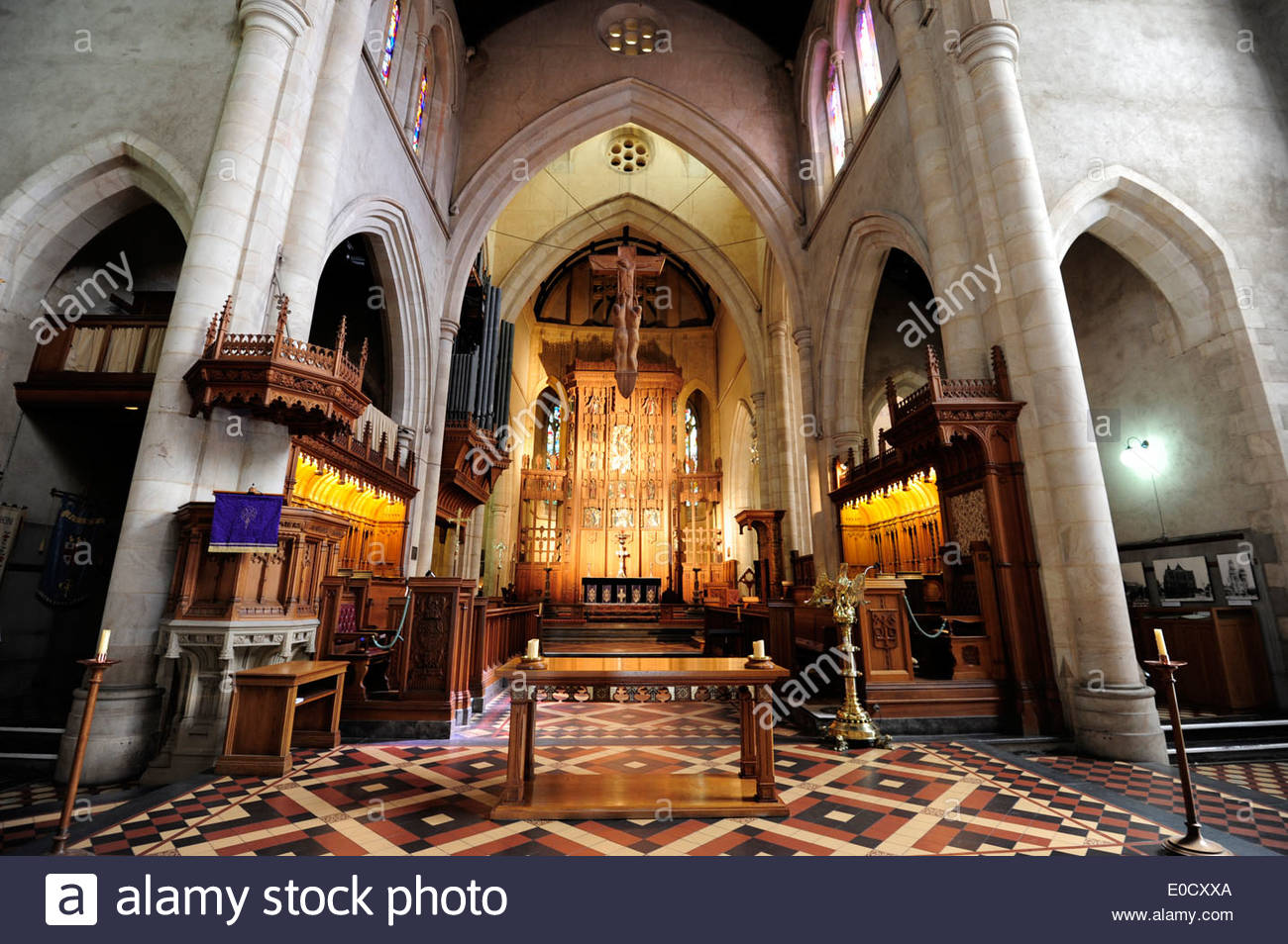 Gothic Style Interior interior view of st. peter's cathedral, church in gothic style