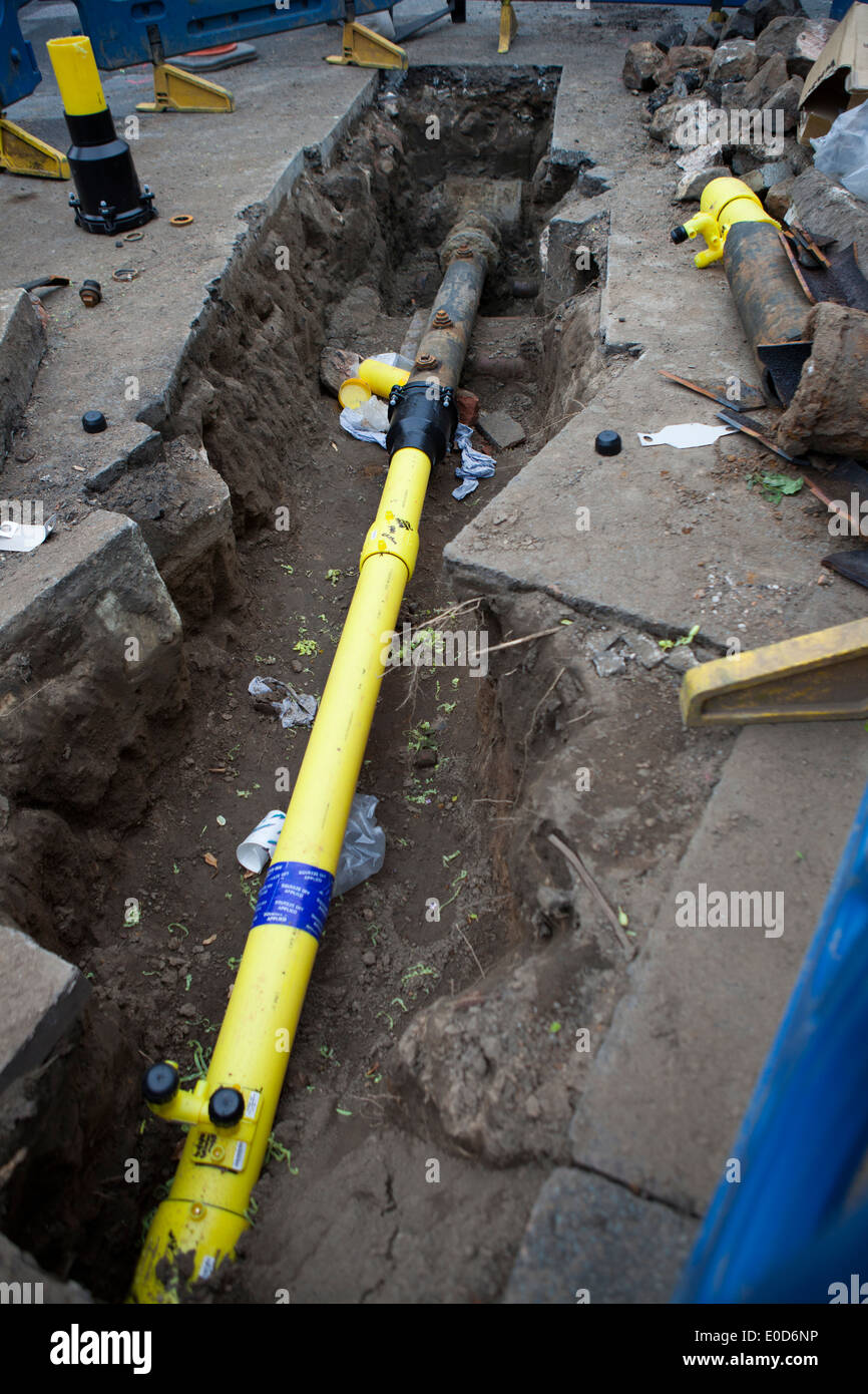 National grid gas replacing cast iron supply pipes with new national grid gas replacing cast iron supply pipes with new plastic piping and joints southport merseyside uk biocorpaavc Image collections