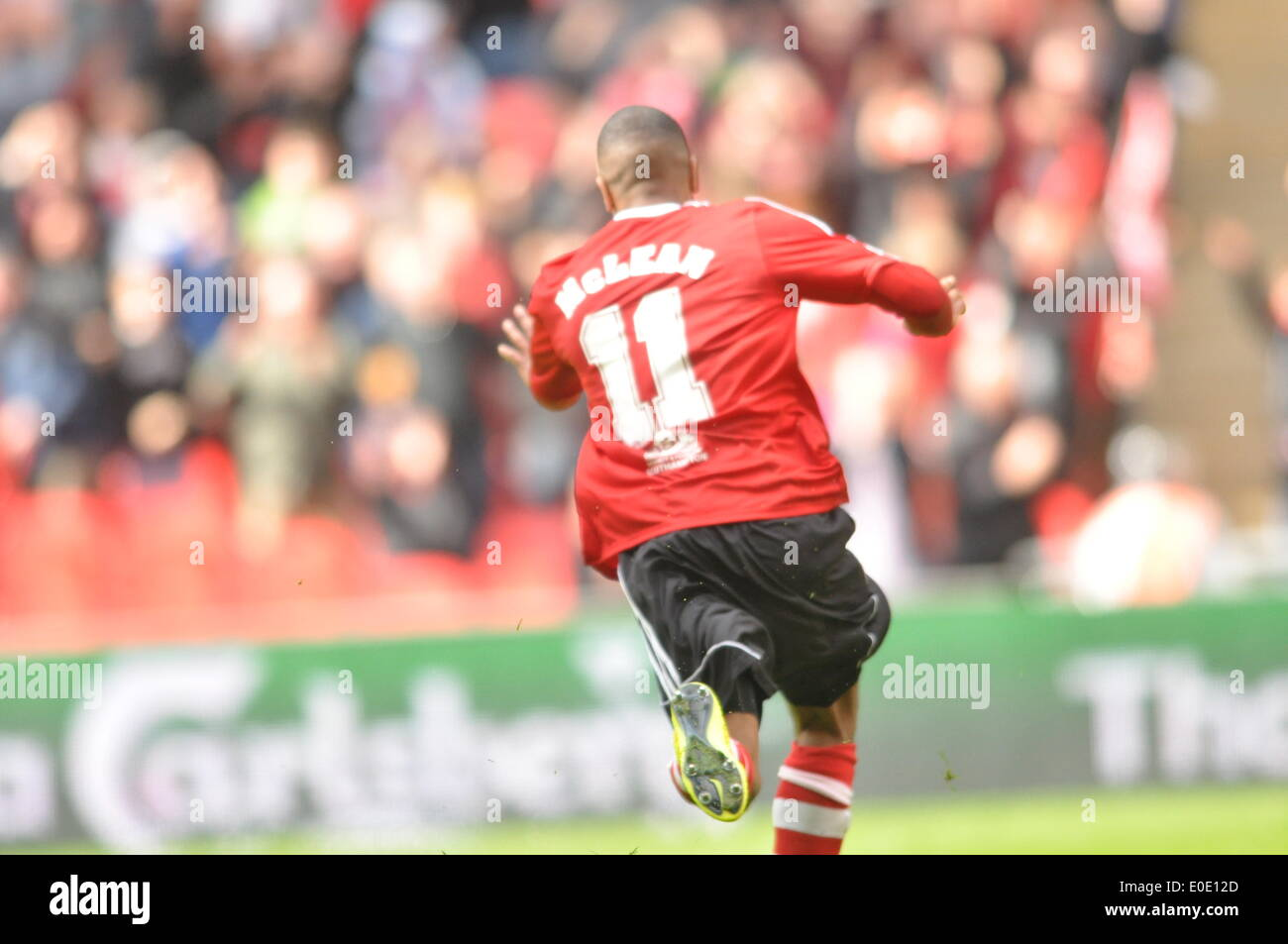 Wembley london uk 10th may 2014 marvin mcclean of sholing fc marvin mcclean of sholing fc scores the only goal of the fa vase 2014 final sholing town fc are based in hampshire and are this years floridaeventfo Image collections