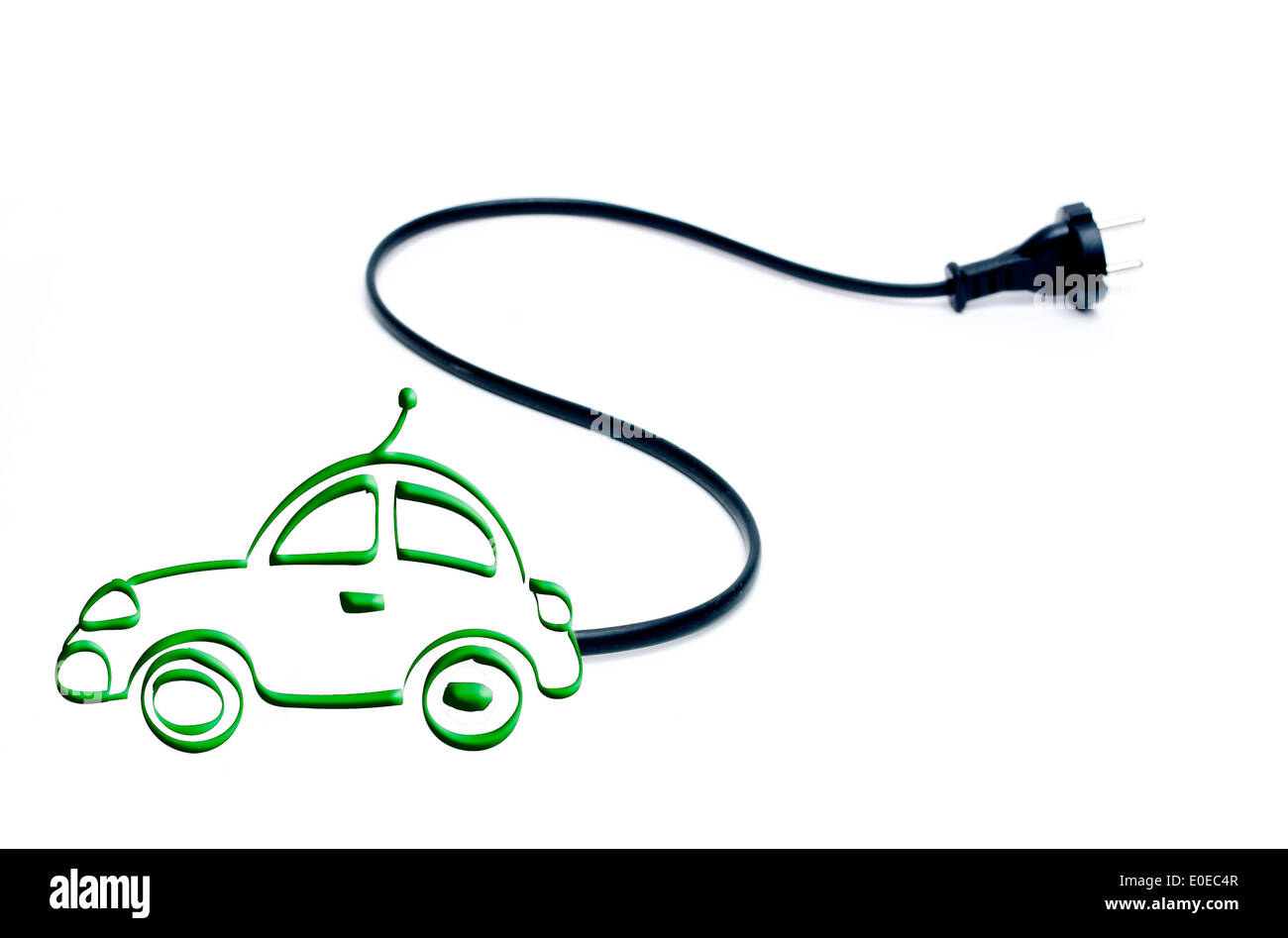 Electric Car Drawing Stock Photo Royalty Free Image Alamy