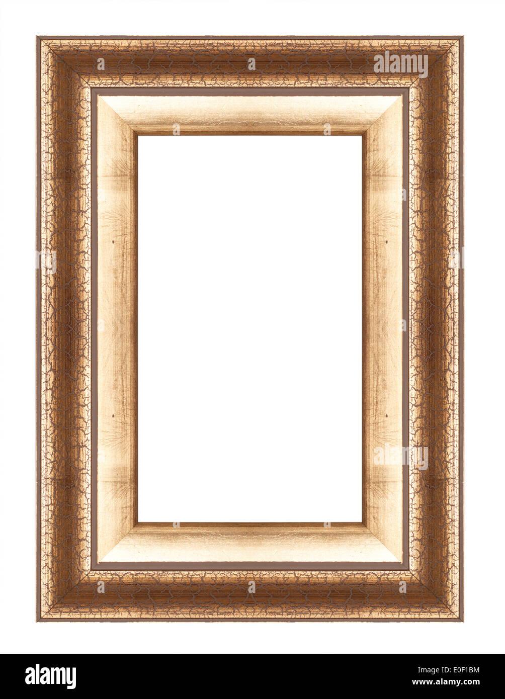 Old antique gold frame isolated decorative carved wood stand old antique gold frame isolated decorative carved wood stand antique black frame isolated on white background jeuxipadfo Image collections