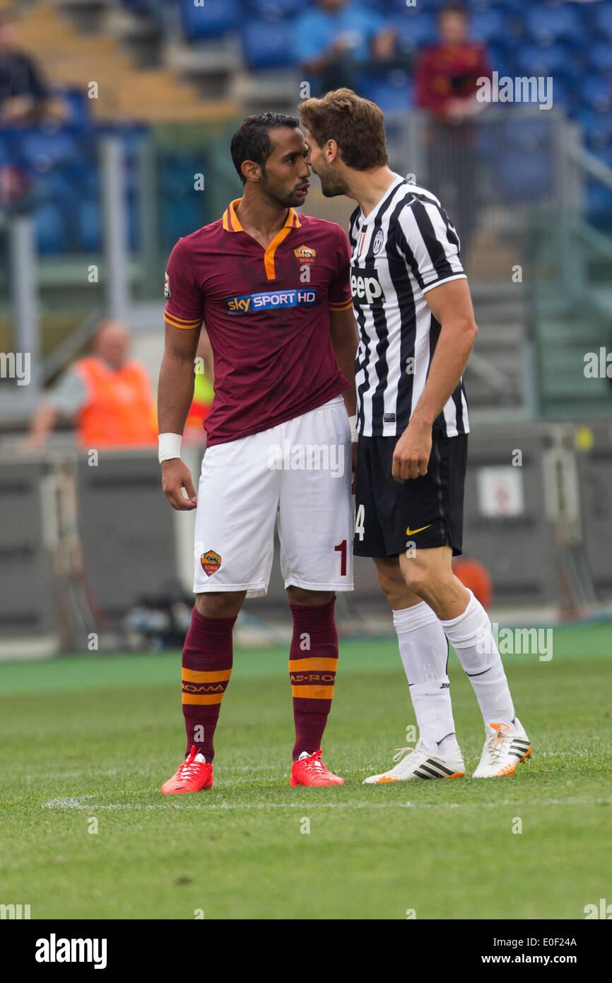Rome Italy 11th May 2014 Mehdi Benatia of AS Roma and Fernando