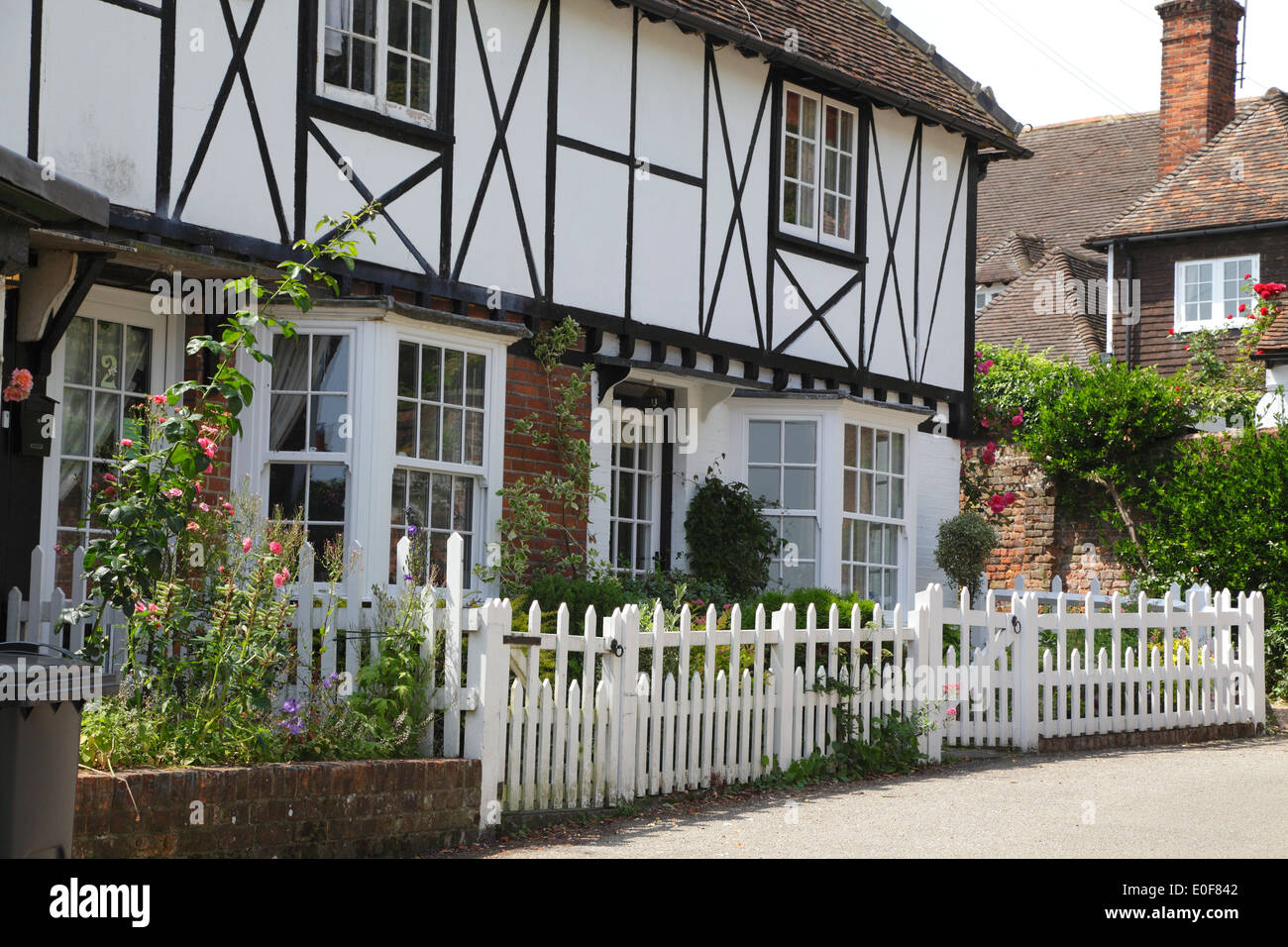Timbered House With White Picket Fence In Chilham Village