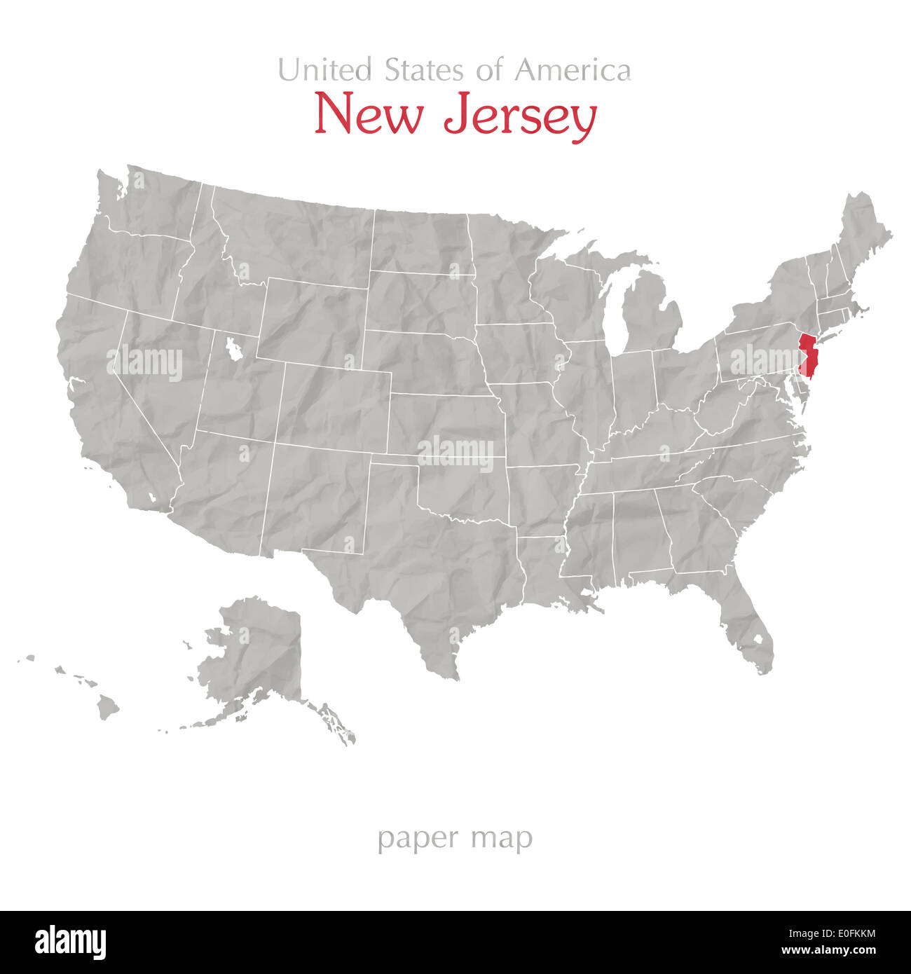 United States Of America Map And New Jersey State Territory On - Us map nj