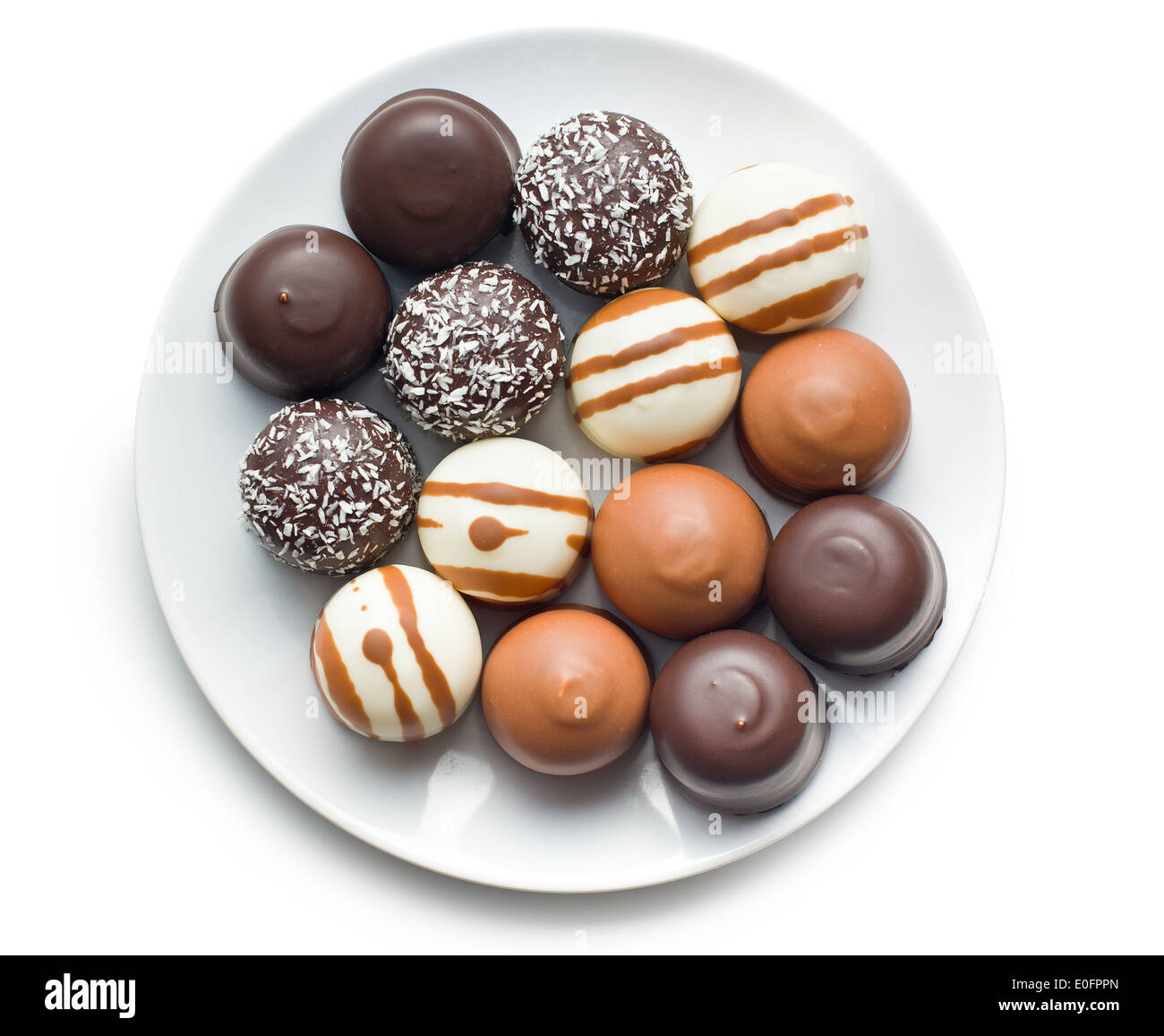 chocolate covered marshmallows on plate Stock Photo, Royalty Free ...