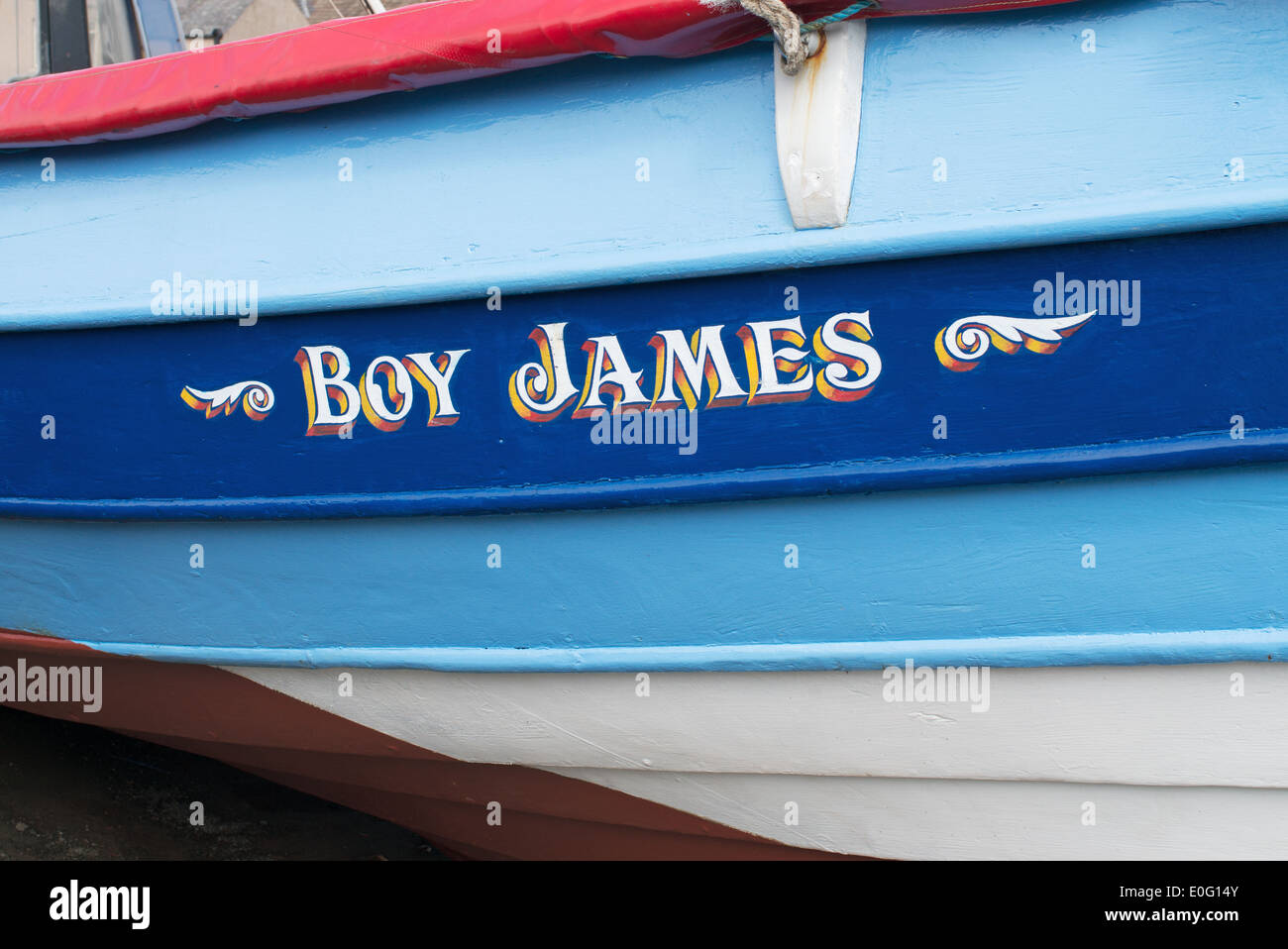 Fishing Boat Name Boy James North East England UK