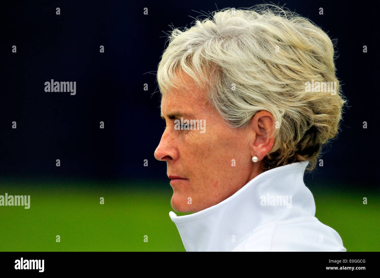 Judy Murray coaching the GB Girls Team at the Maureen Connolly