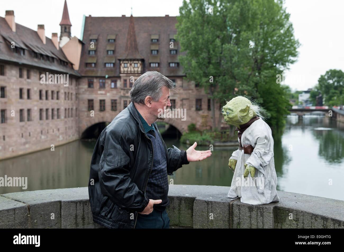 Nuremberg, Germany. 07th May, 2014. Make-up artist Nick Maley, one ...