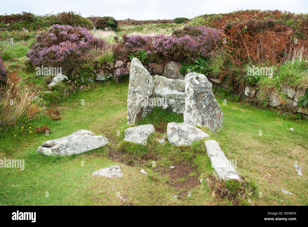 Chysauster ancient ruins of a celtic village near Penzance ...