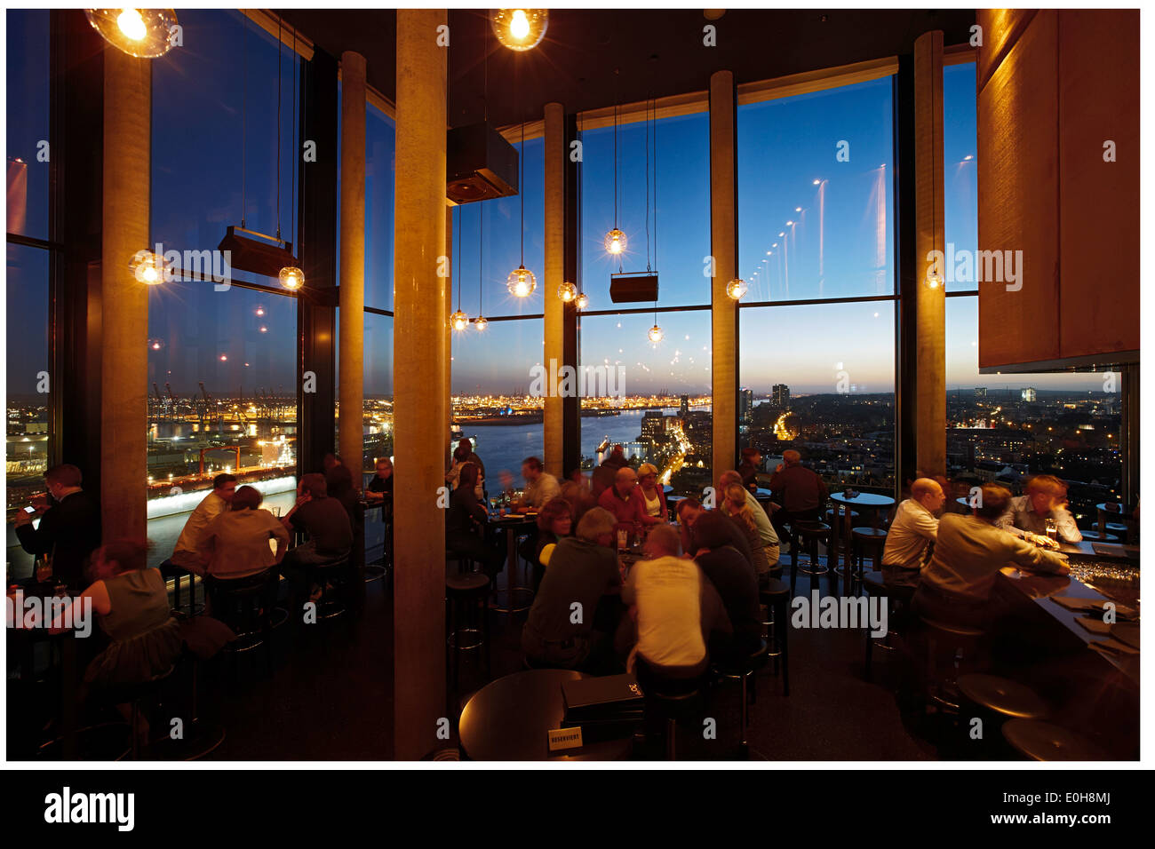 Stock photo hamburg germany riverside new - Bar 20up Twentieth Floor Of The Empire Riverside Hotel St Pauli Hamburg Germany