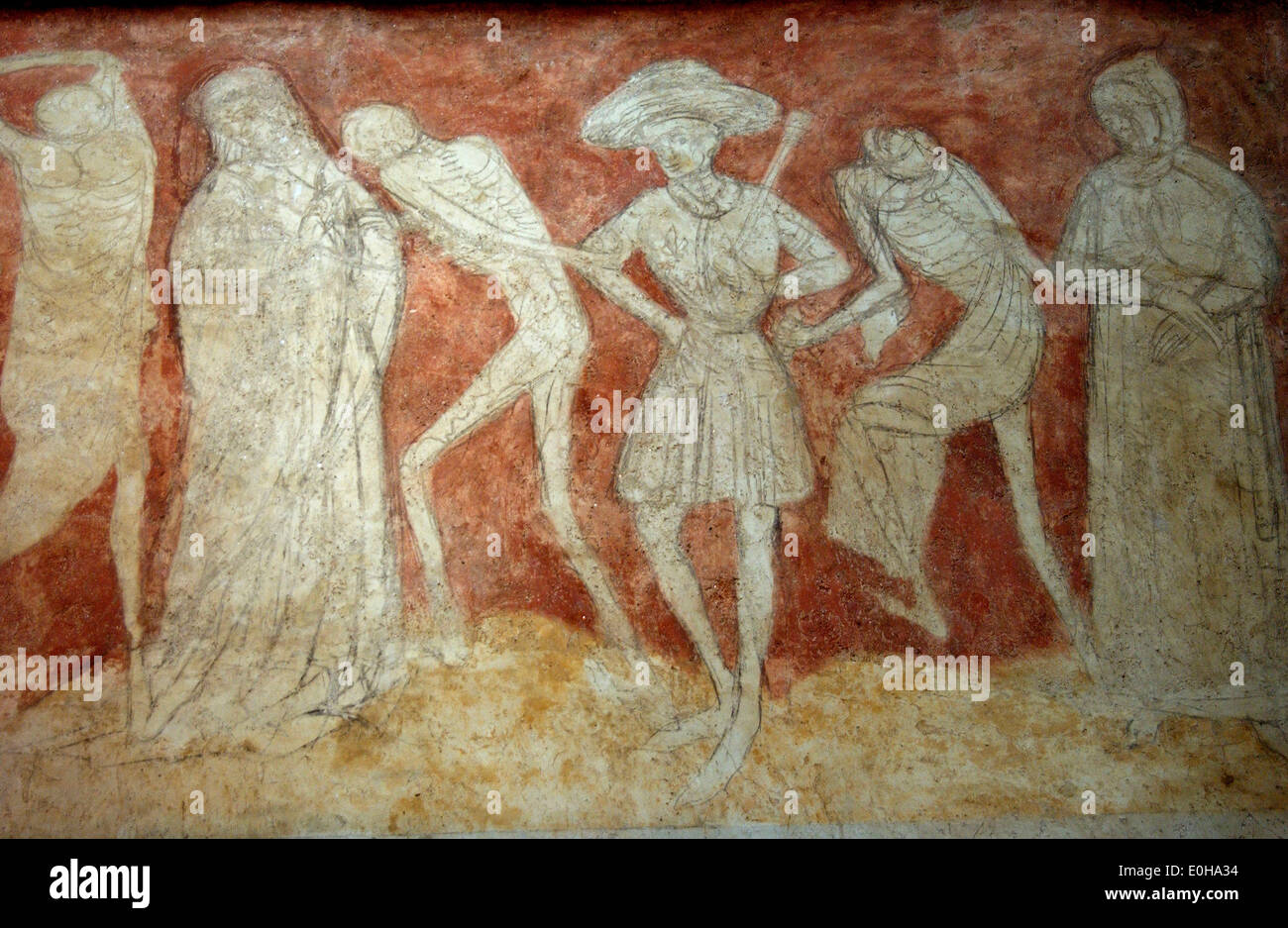 Fresco of the danse macabre in the abbey church of st for Chaise haute fresco loft