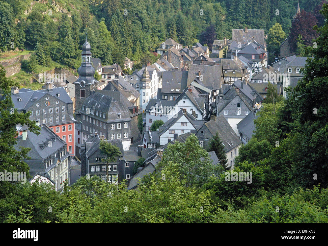 germany monschau city viewpoint deutschland monschau stadt stock photo royalty free image. Black Bedroom Furniture Sets. Home Design Ideas