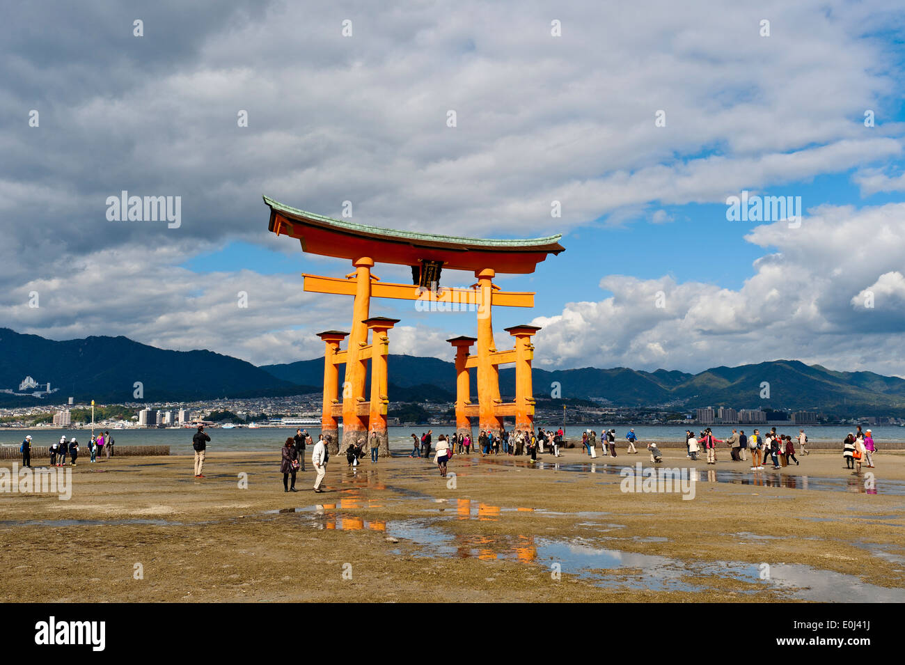 Torii Gate, Itsukushima Shrine, Miyajima Island, UNESCO World Stock Photo, Ro...