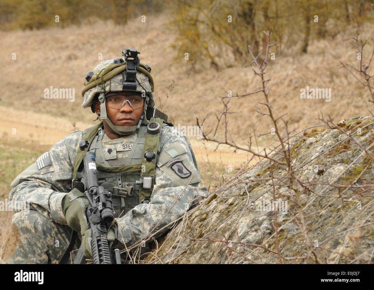 u s army spc rodney stewart from headquarters and headquarters stock photo u s army spc rodney stewart from headquarters and headquarters company 173rd special troops battalion 173rd airborne brigad