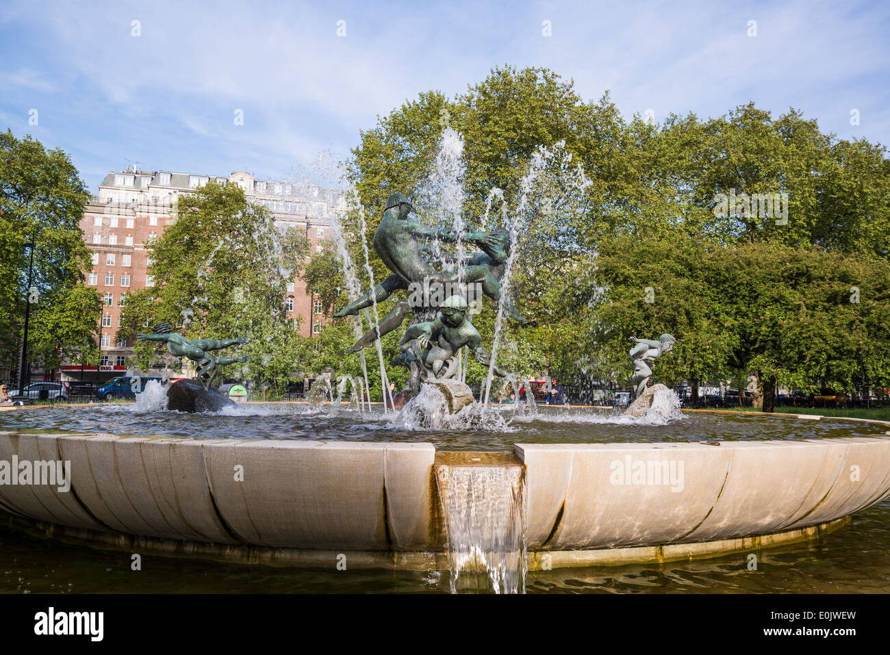 Water fountains hyde park - Water Fountain In Hyde Park London Uk Stock Image