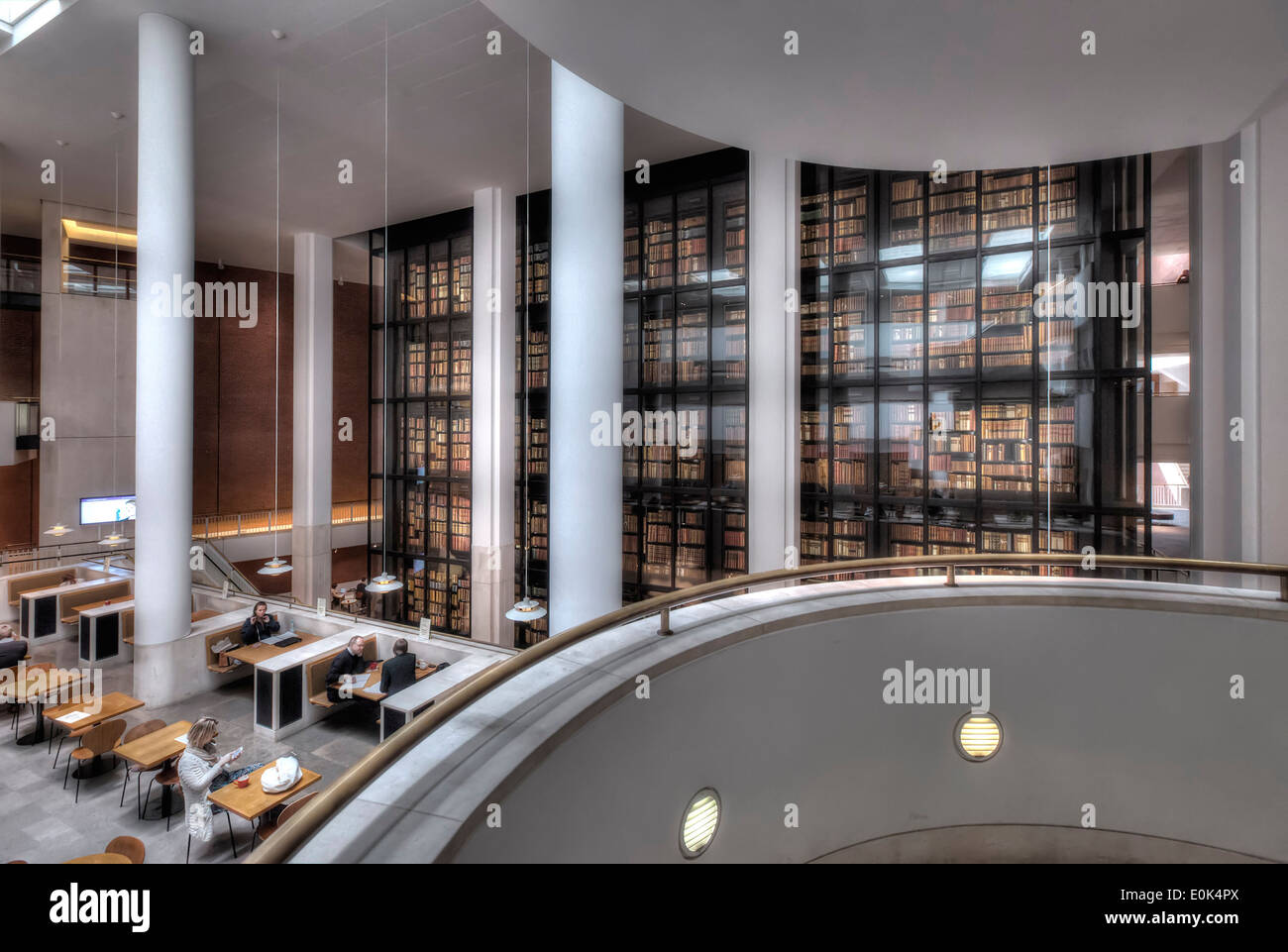 The Cafe And Reading Room Of British Library In London With Kings