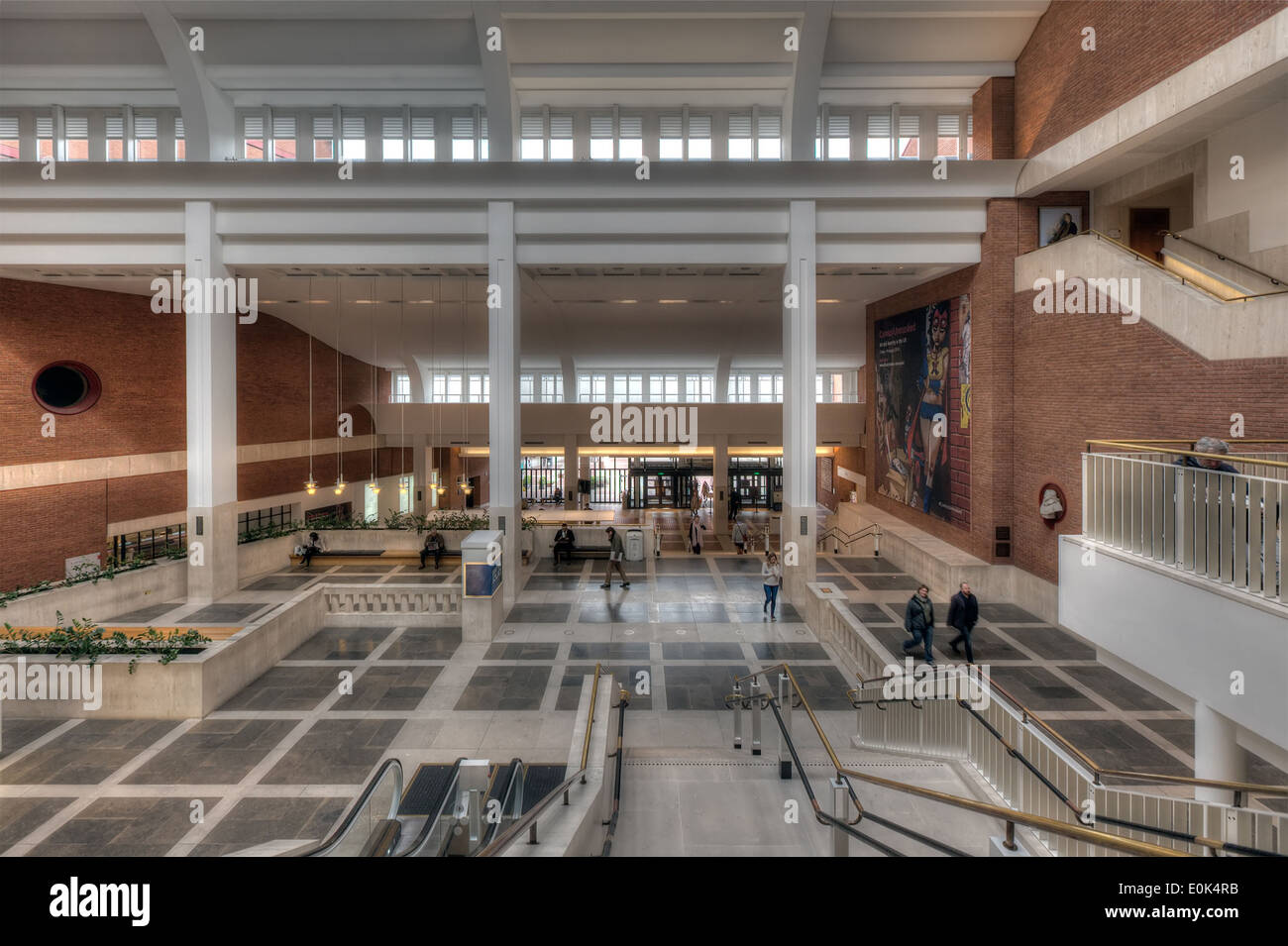 The Foyer Of British Library In London