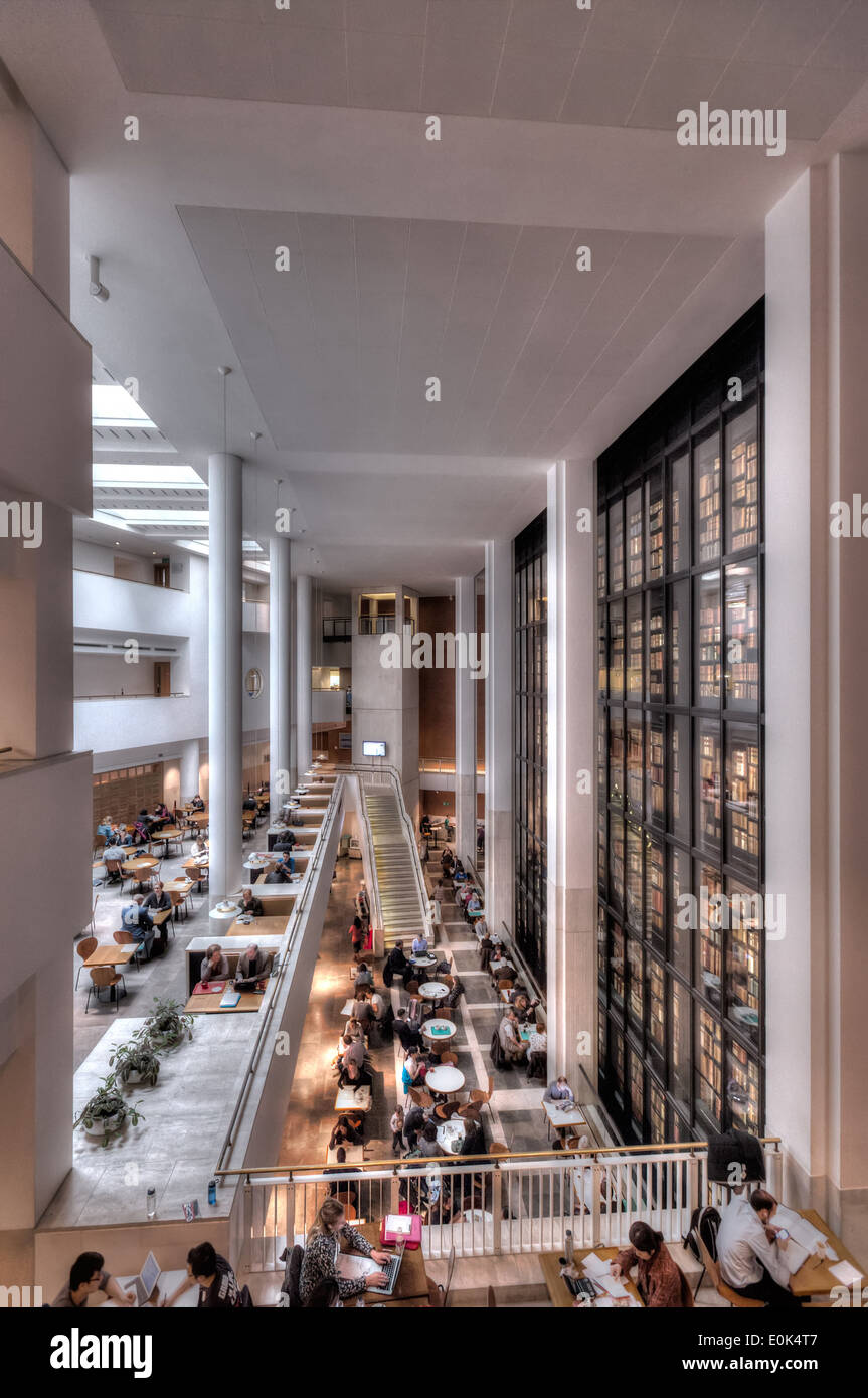The Caf And Reading Room Of British Library In London With Kings