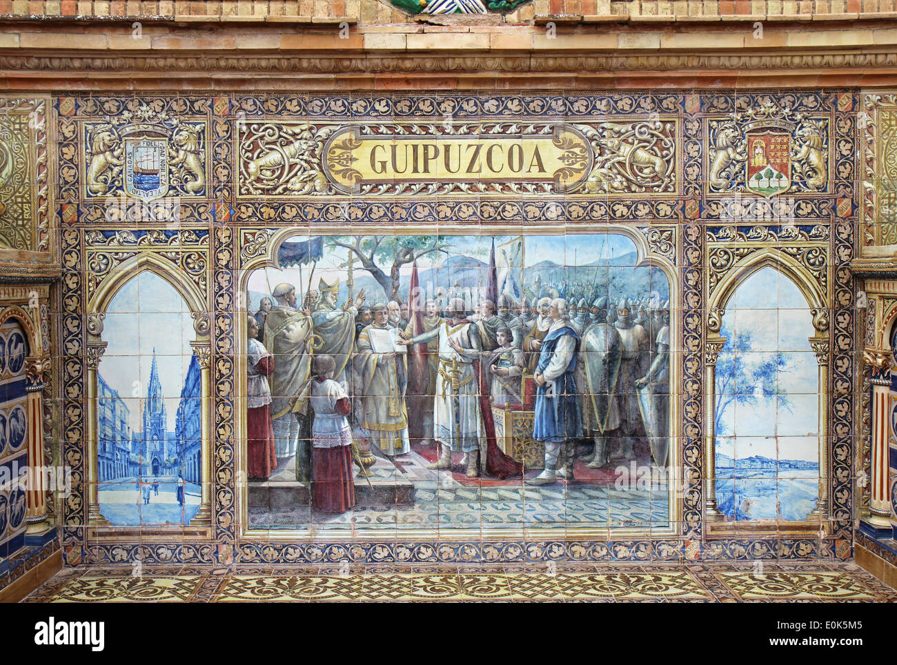 Ceramic tile mural at plaza de espana in seville spain stock ceramic tile mural at plaza de espana in seville spain doublecrazyfo Images