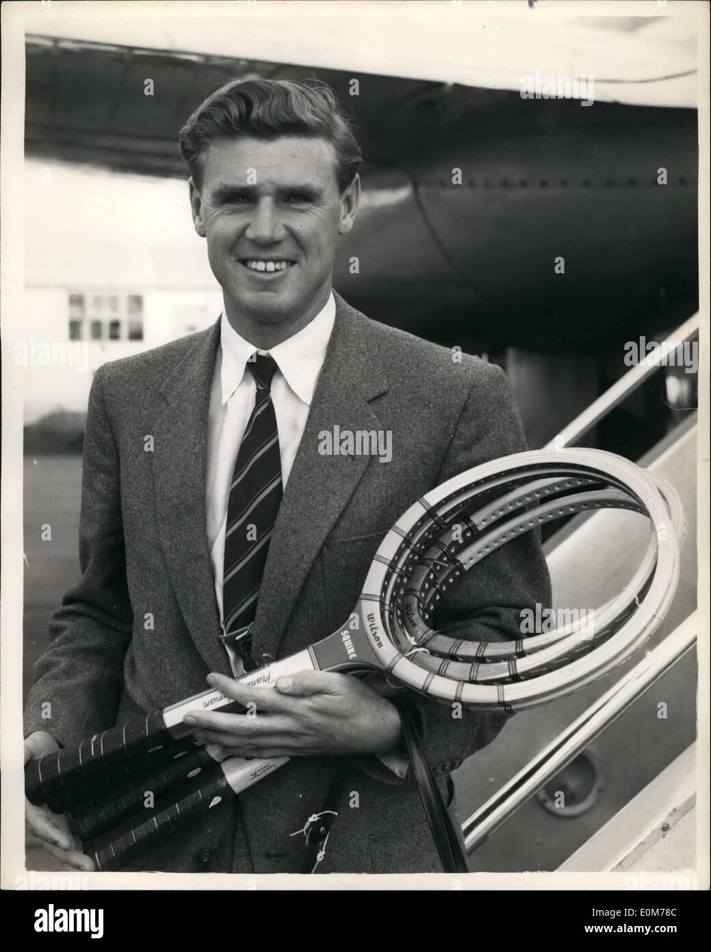 Nov 11 1953 Australian star arrives for professional tennis