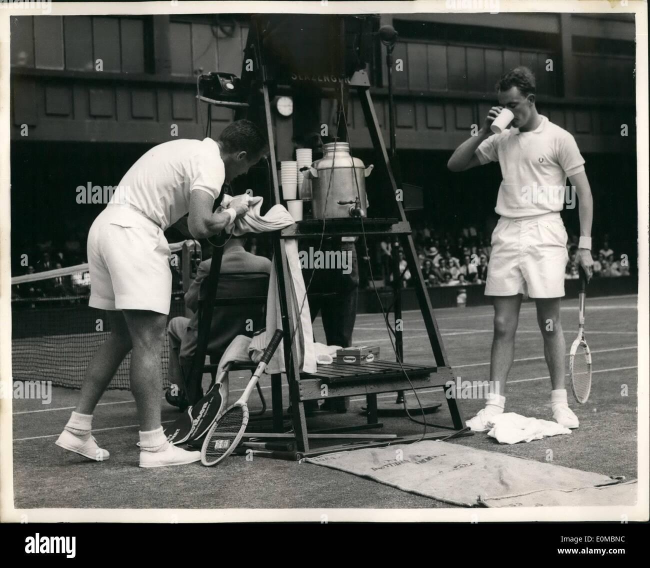 Jun 06 1954 Wimbledon Fourth Day R K Wilson Tony Trabert