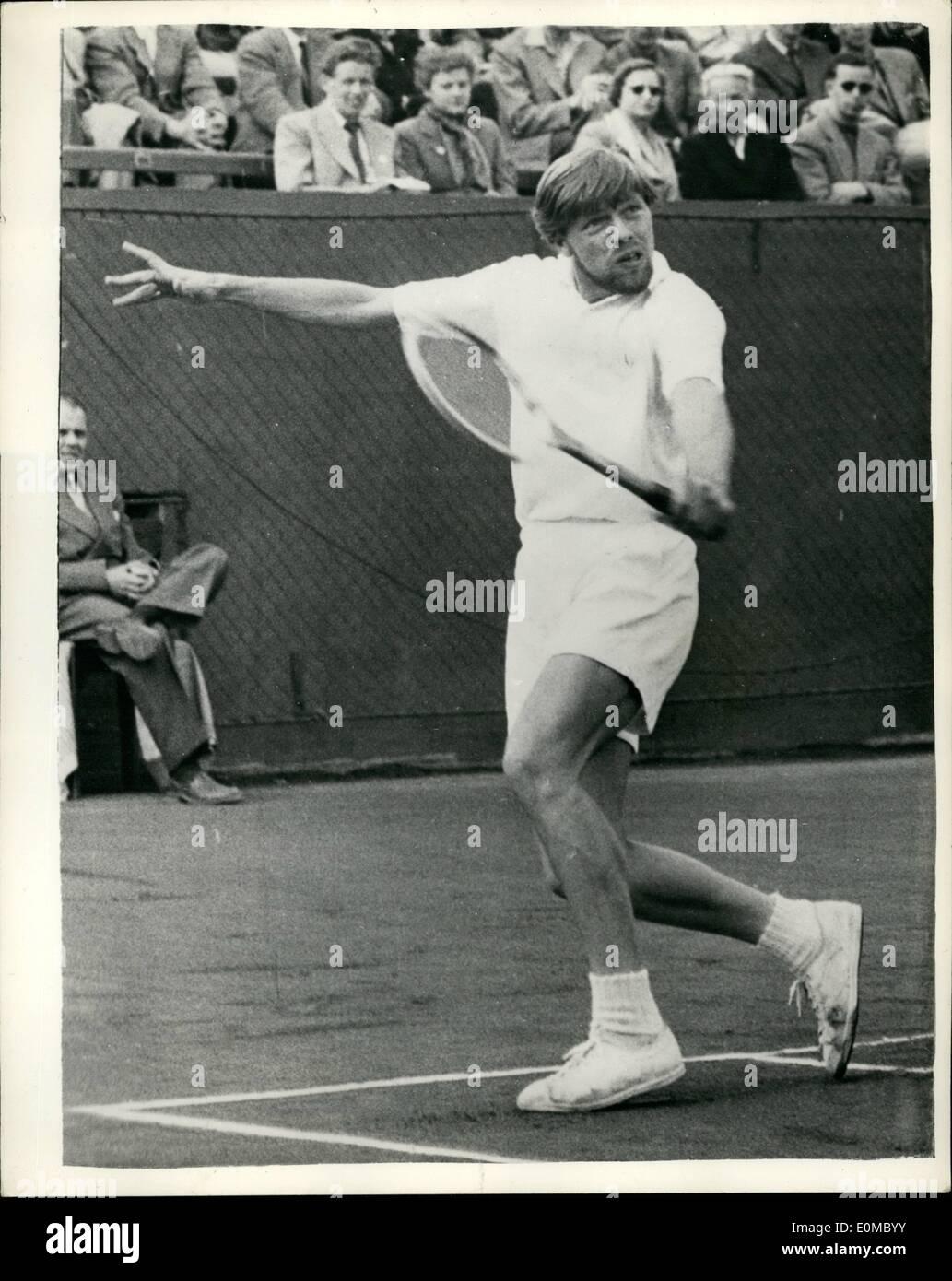 Jun 06 1954 Denmark Vs USA At Tennis Ulrich Beats Seixas