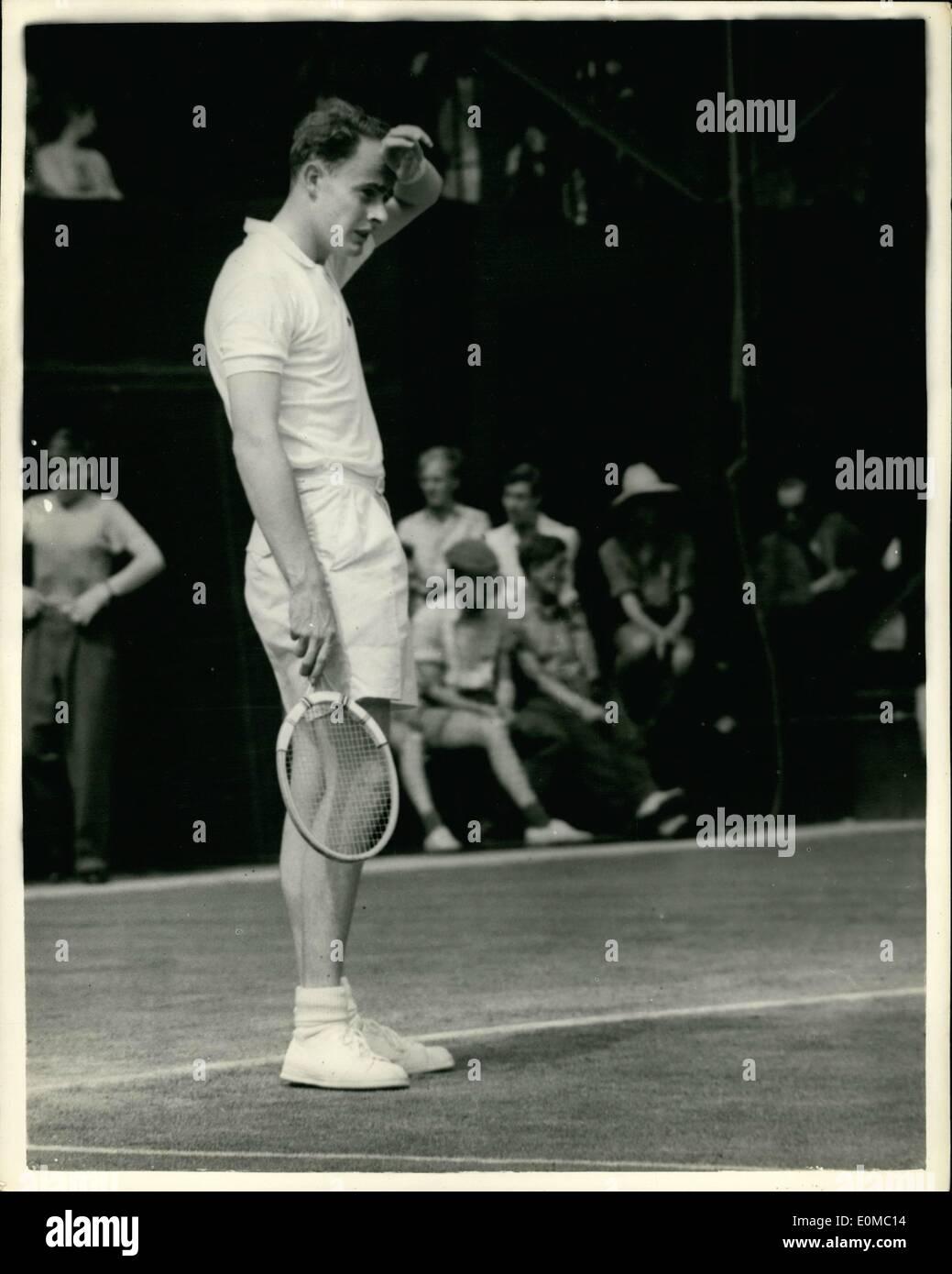 Jun 06 1954 Wimbledon Tennis Fourth Day RK Wilson G B