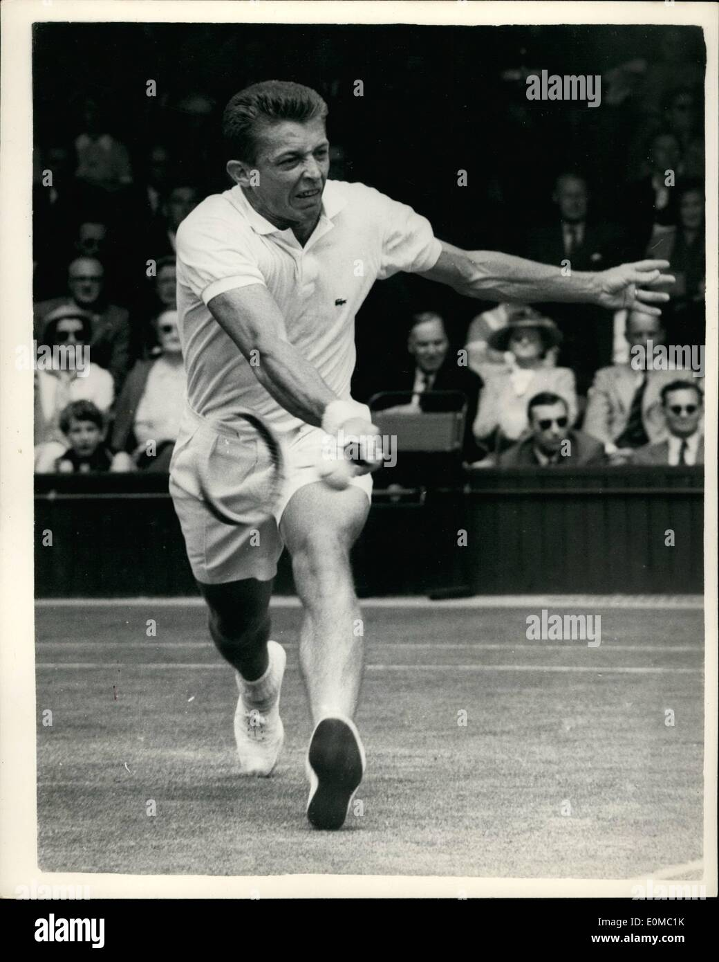 Jun 06 1954 Wimbledon Fourth Day R K Wilson v Tony