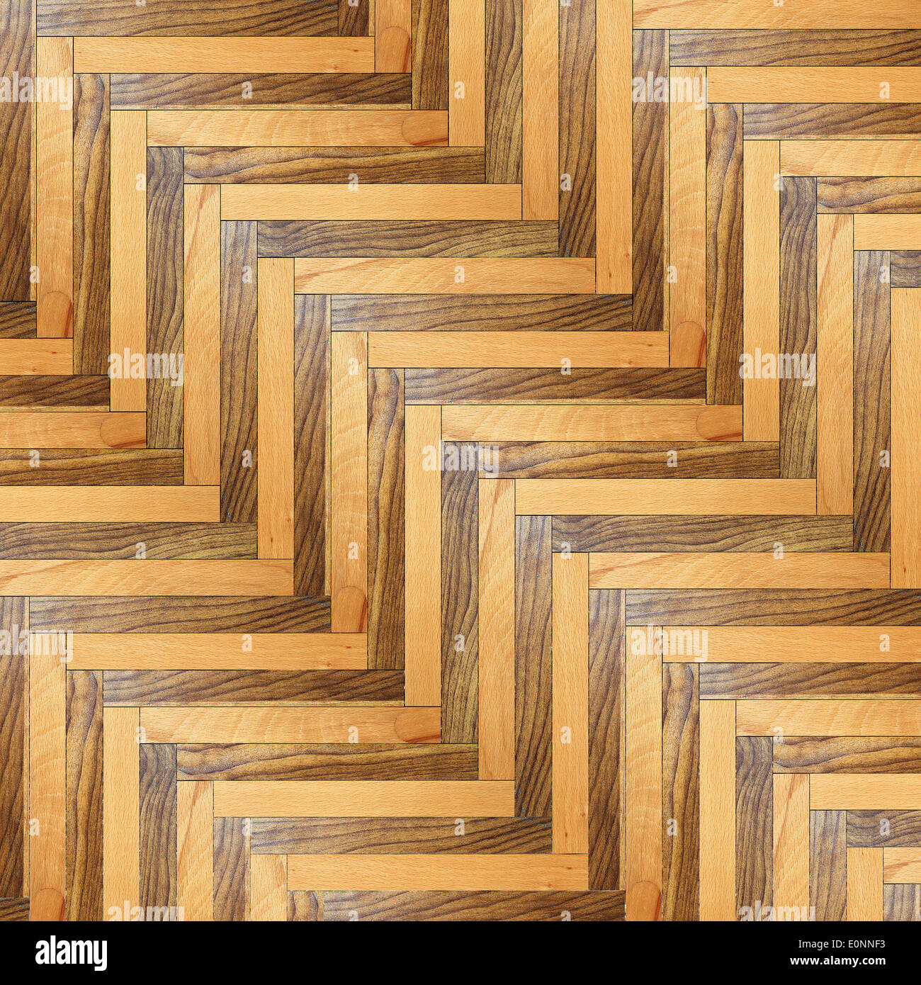 Striped Model Of Wood Floor Made From Two Different Types Of - Different Types Of Wood Floors