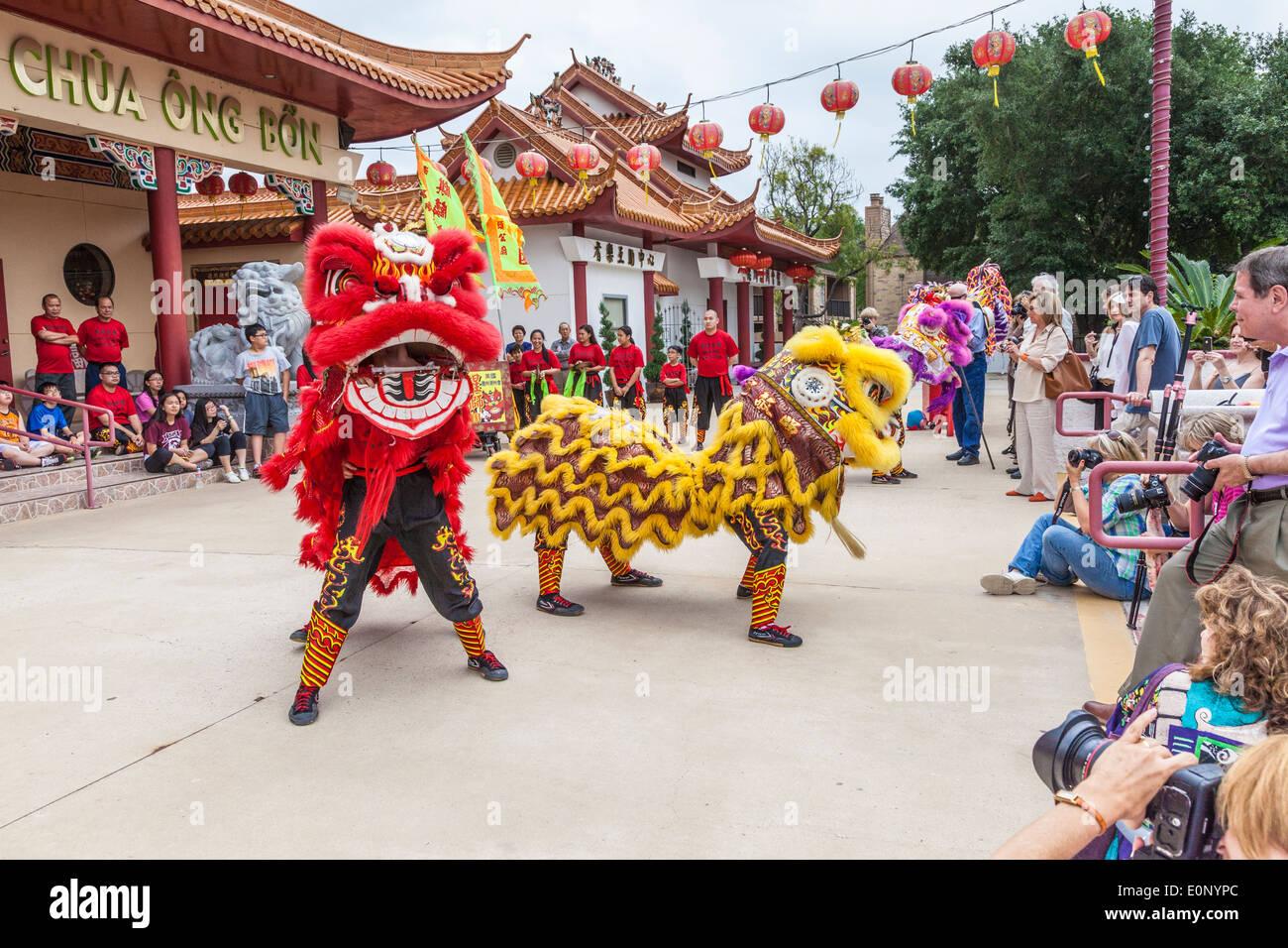 Uncategorized Lion Dancer lion dance performance at teo chew temple in houston stock photo houston