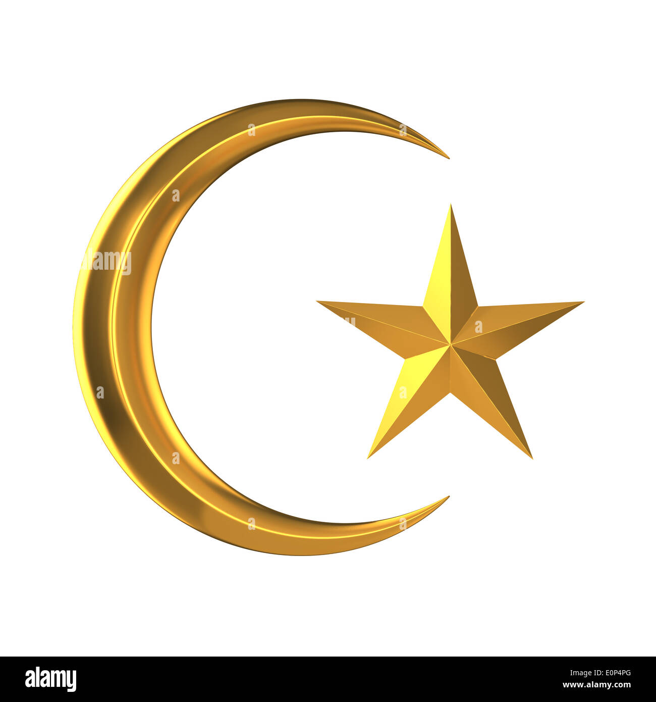 Crescent And Star Symbol