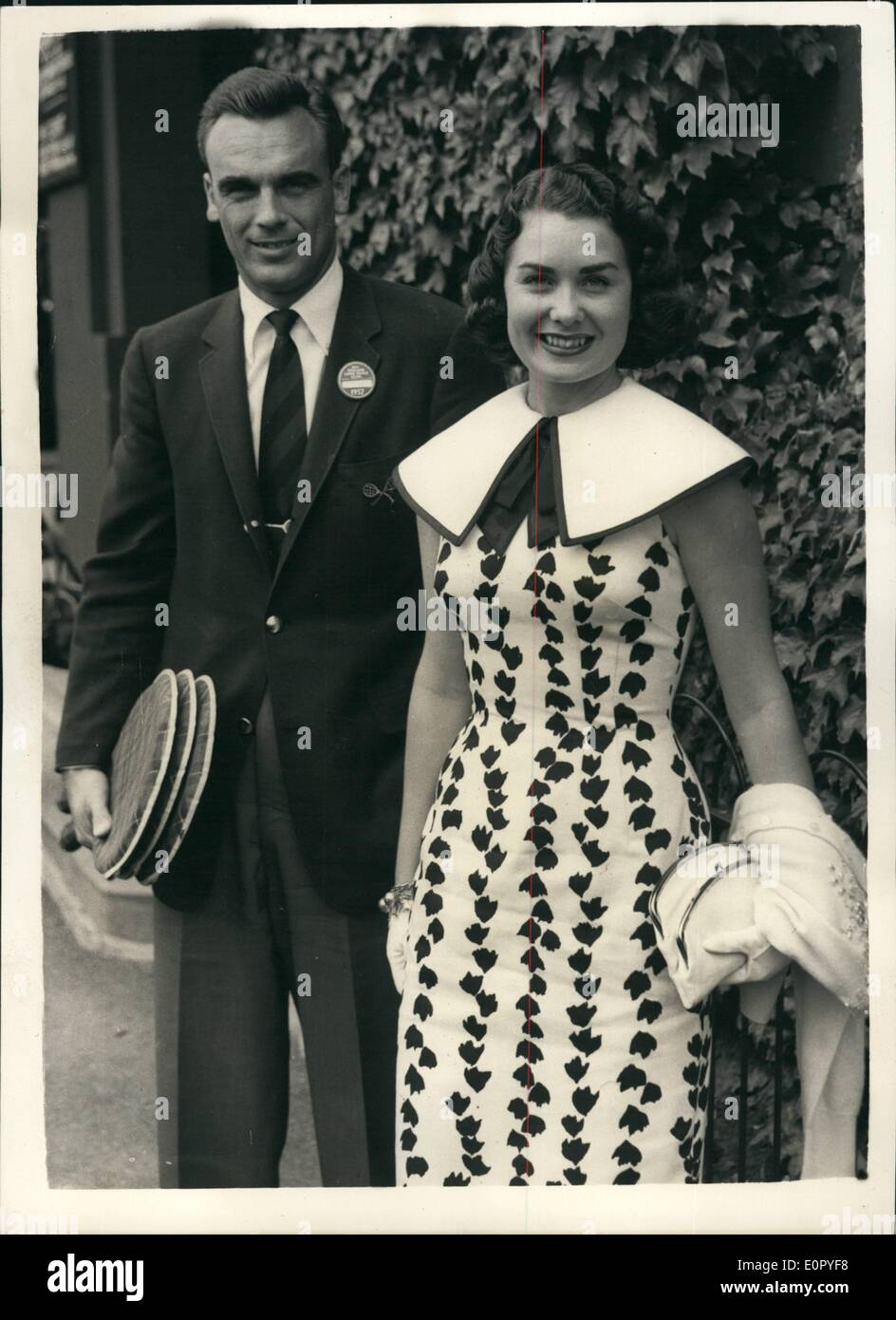 May 05 1957 First Day The Wimbledon Tournament Mr And Mrs