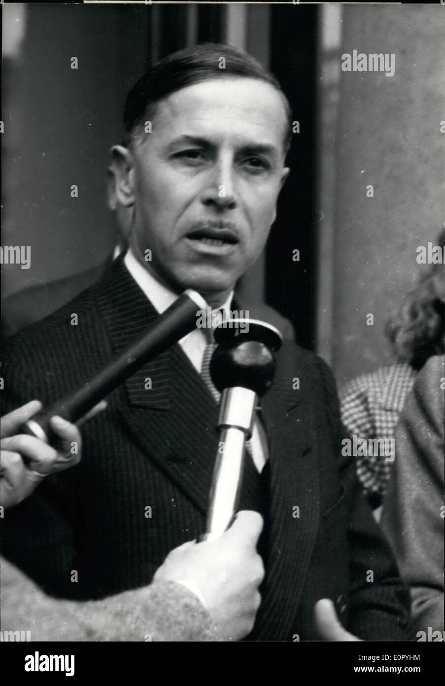 May 05, 1957 - A French Cabinet Crisi: M. Raymond Triboulet ...