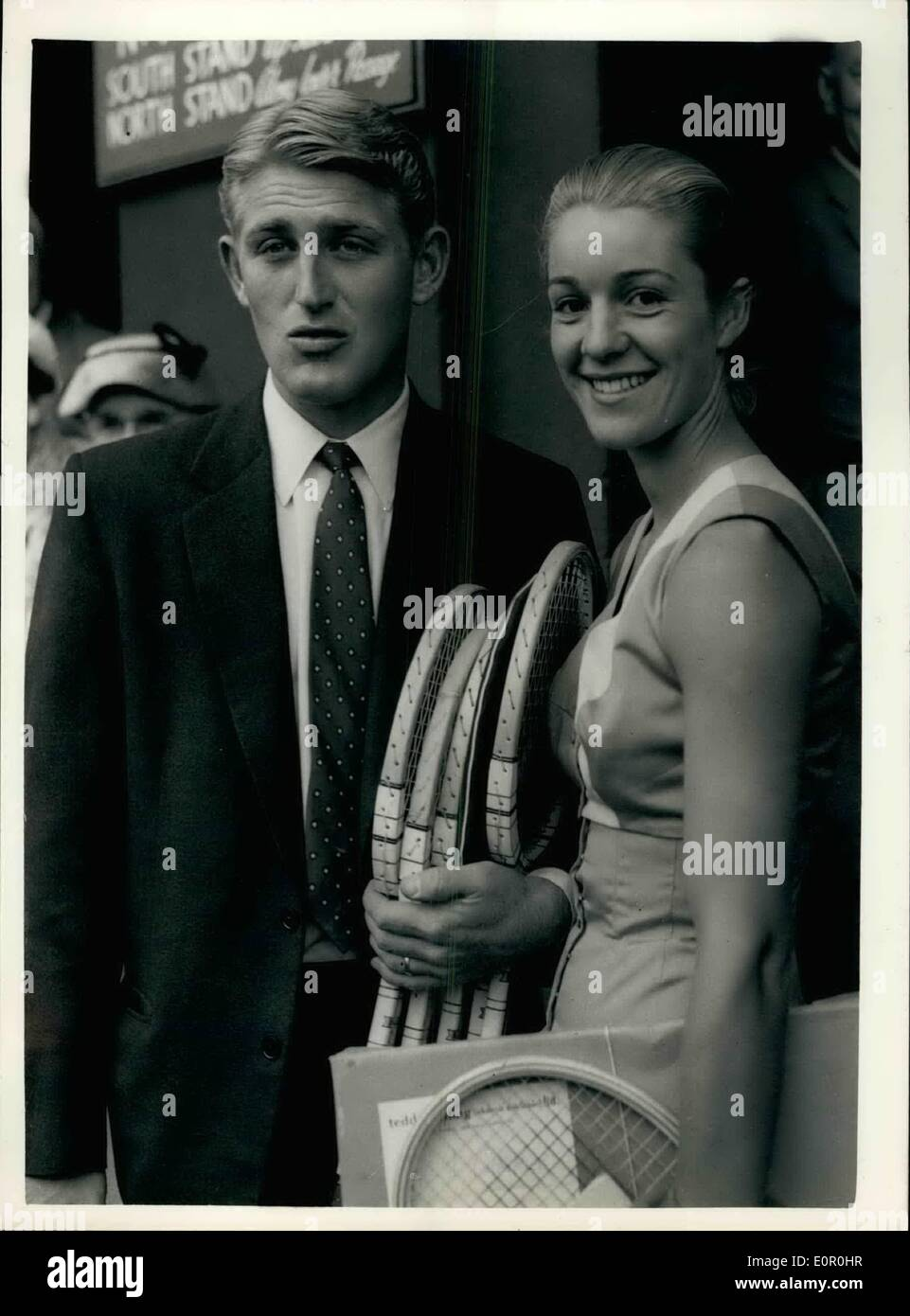 Jun 06 1957 First day of the Wimbledon tournament Lew Hoad