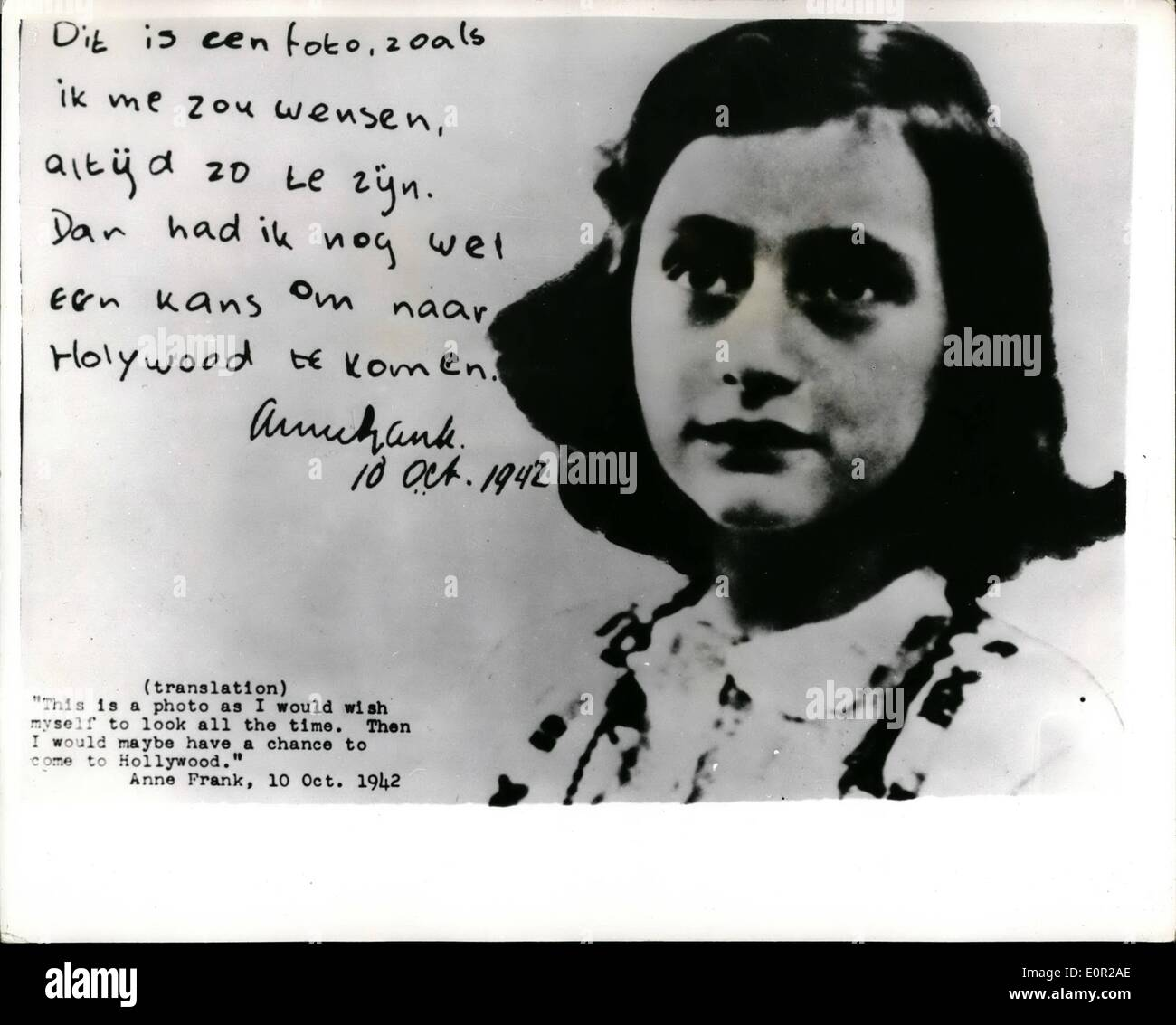 Story Of Anne Frank Stock Photos & Story Of Anne Frank Stock ...