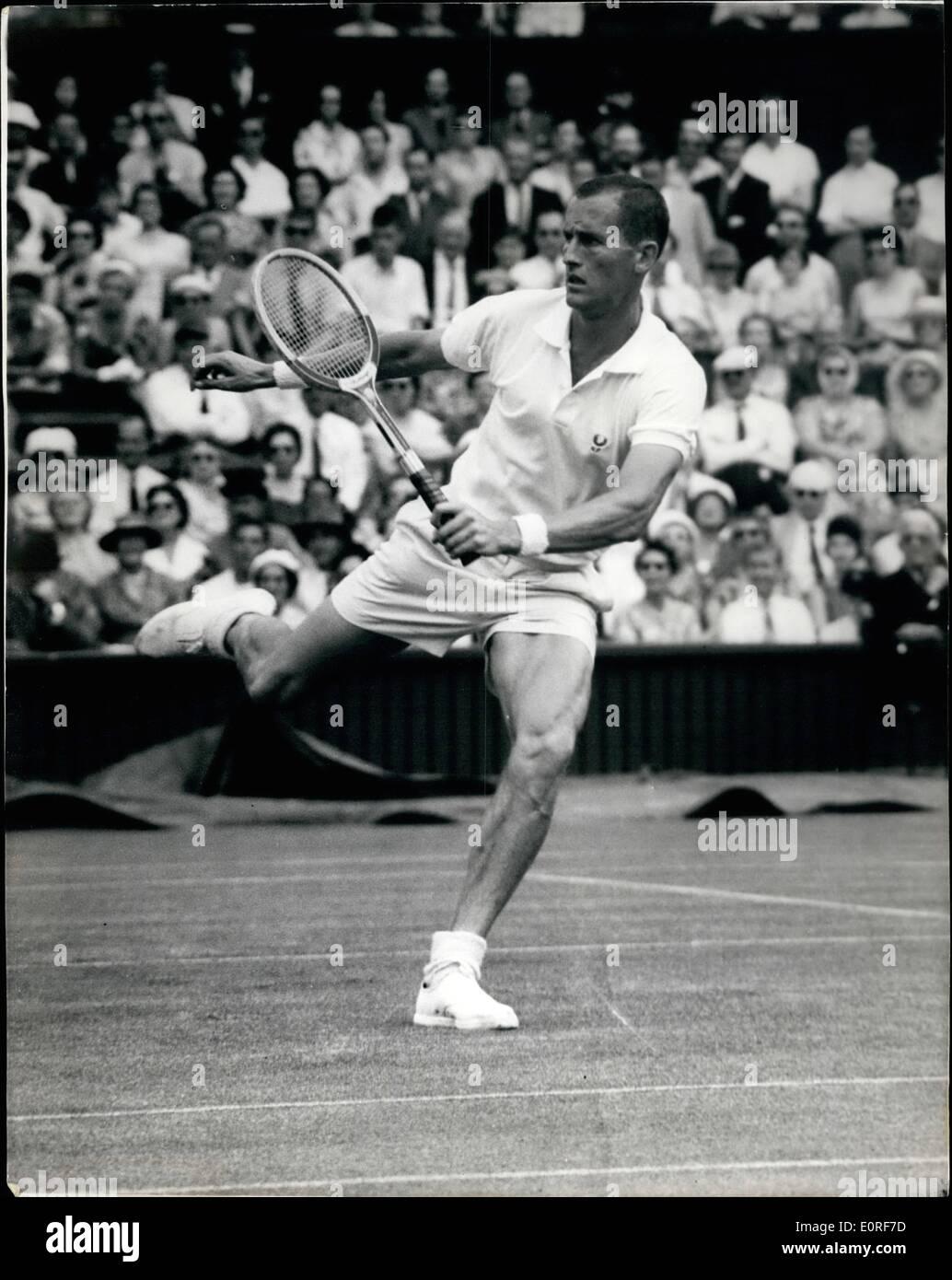 Jun 06 1959 First day of the Wimbledon Tournament Fraser of