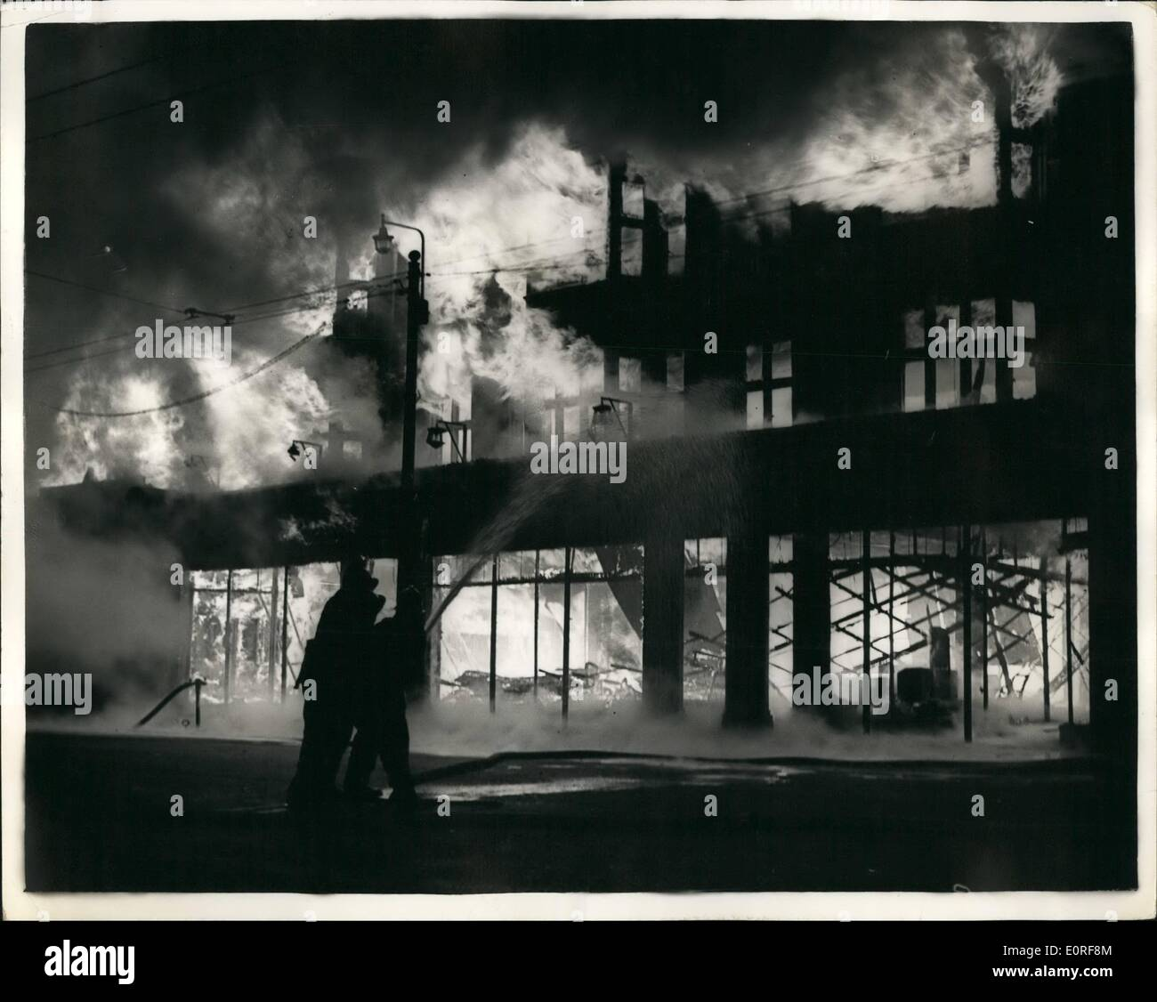 06, 1959   Big Furniture Store Blaze At Ilford: Fire Swept Through The  Furniture Stores Of Harrison And Gibson Of Ilford, Essex , Tonight, ...