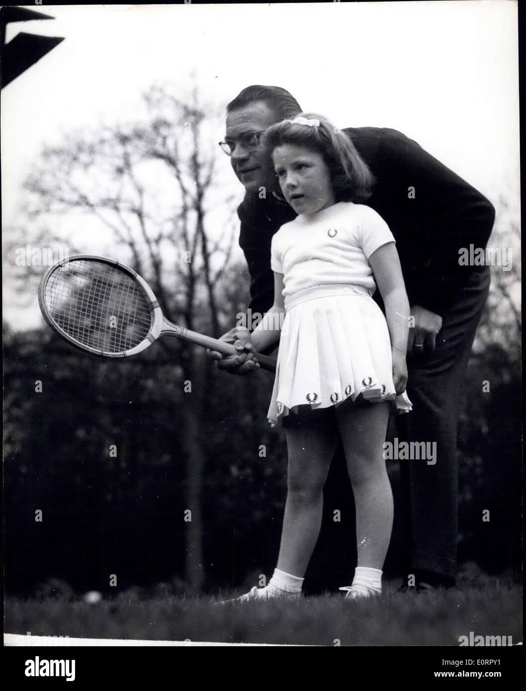May 03 1960 Expert tuition for Five year old Helen Jaroslav