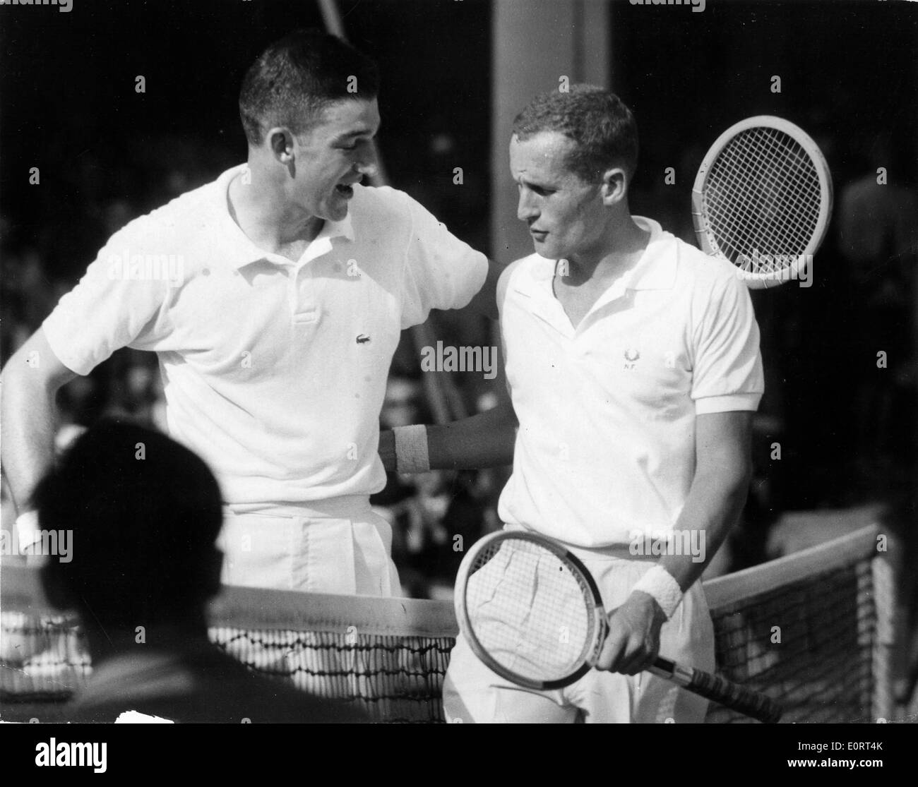 Tennis players Neale Fraser and Barry MacKay Stock Royalty