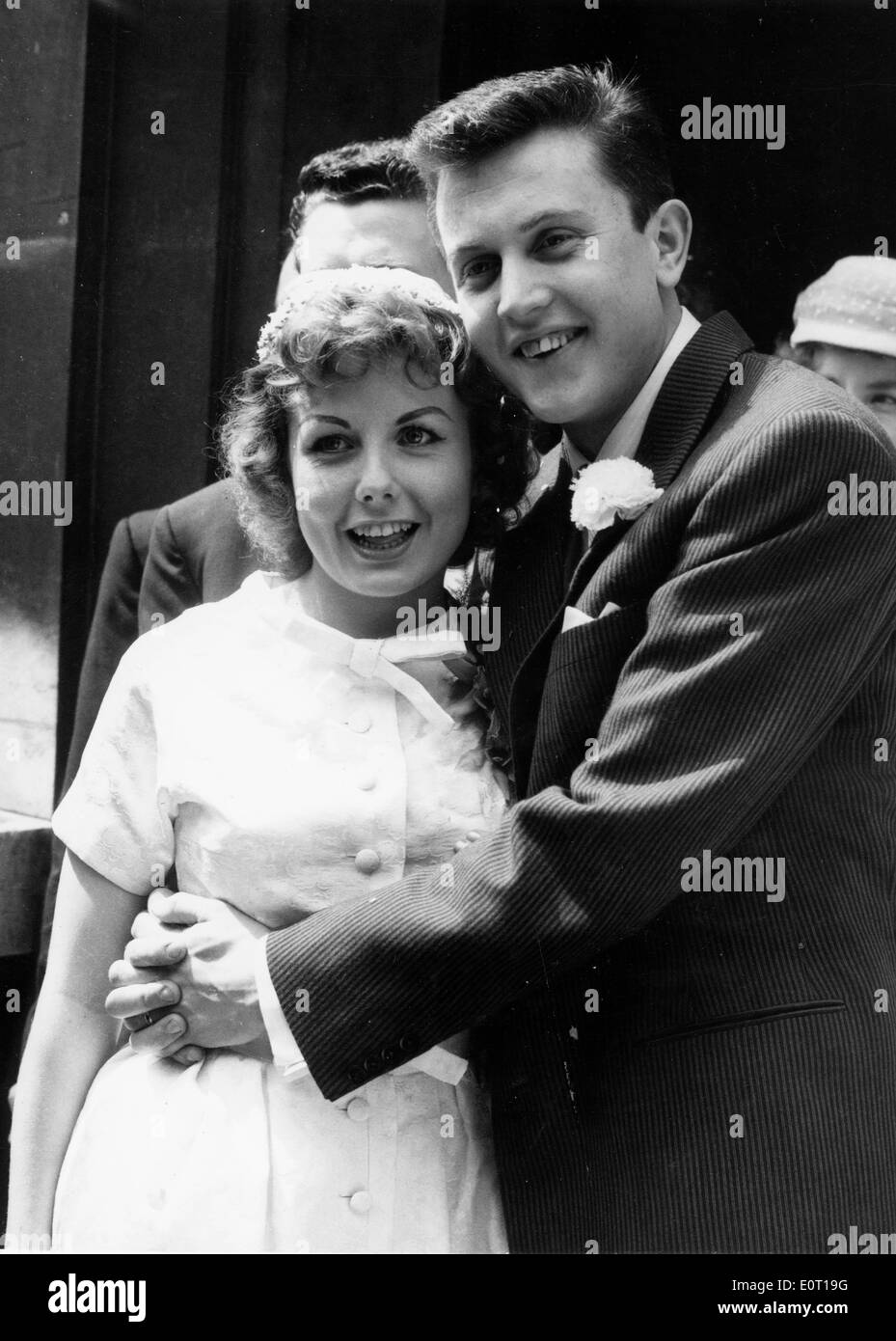 Singers Terry Dene And Edna Savage Wed Stock Photo