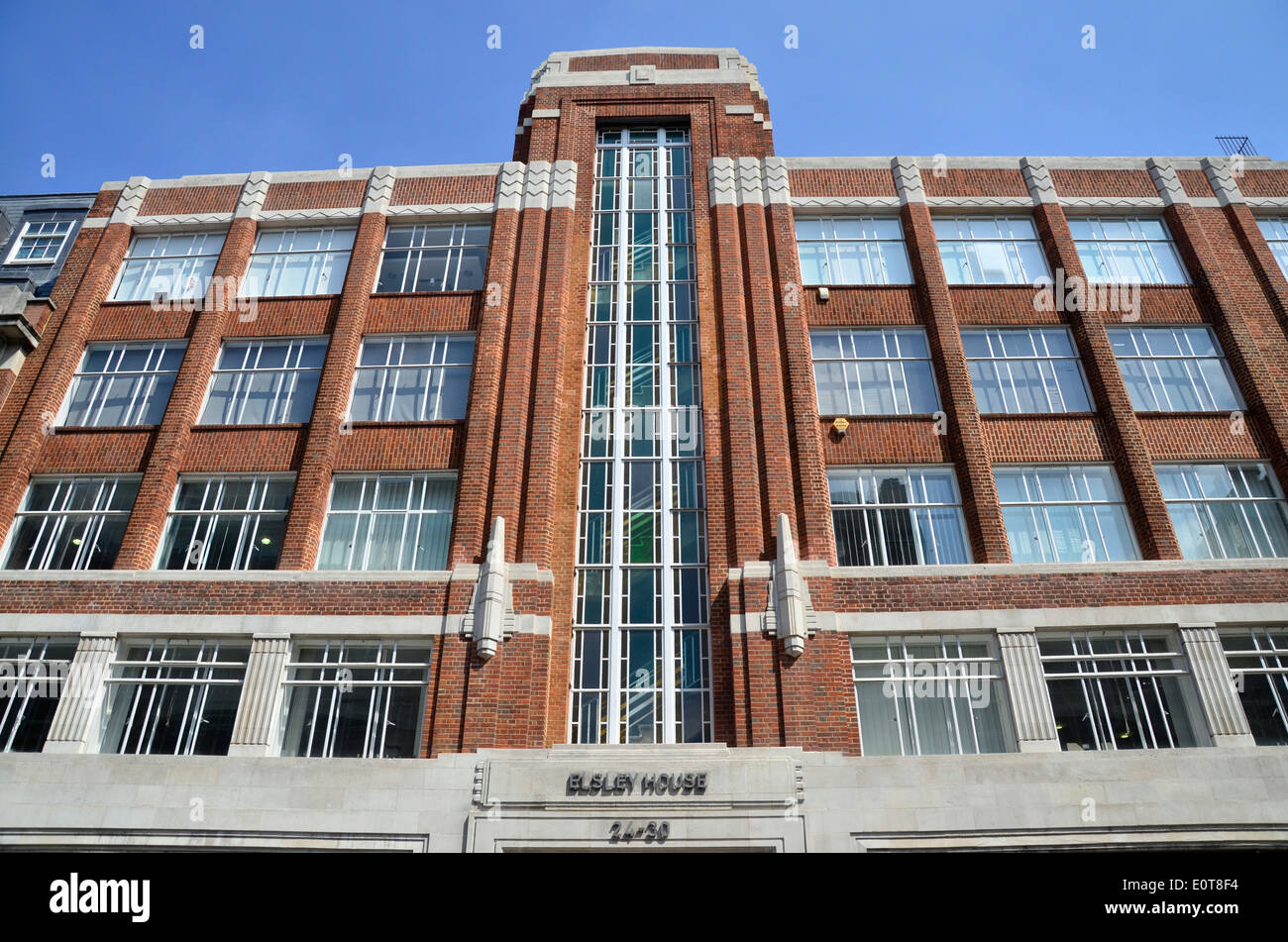 Art Deco Building In The Marylebone Area Of London